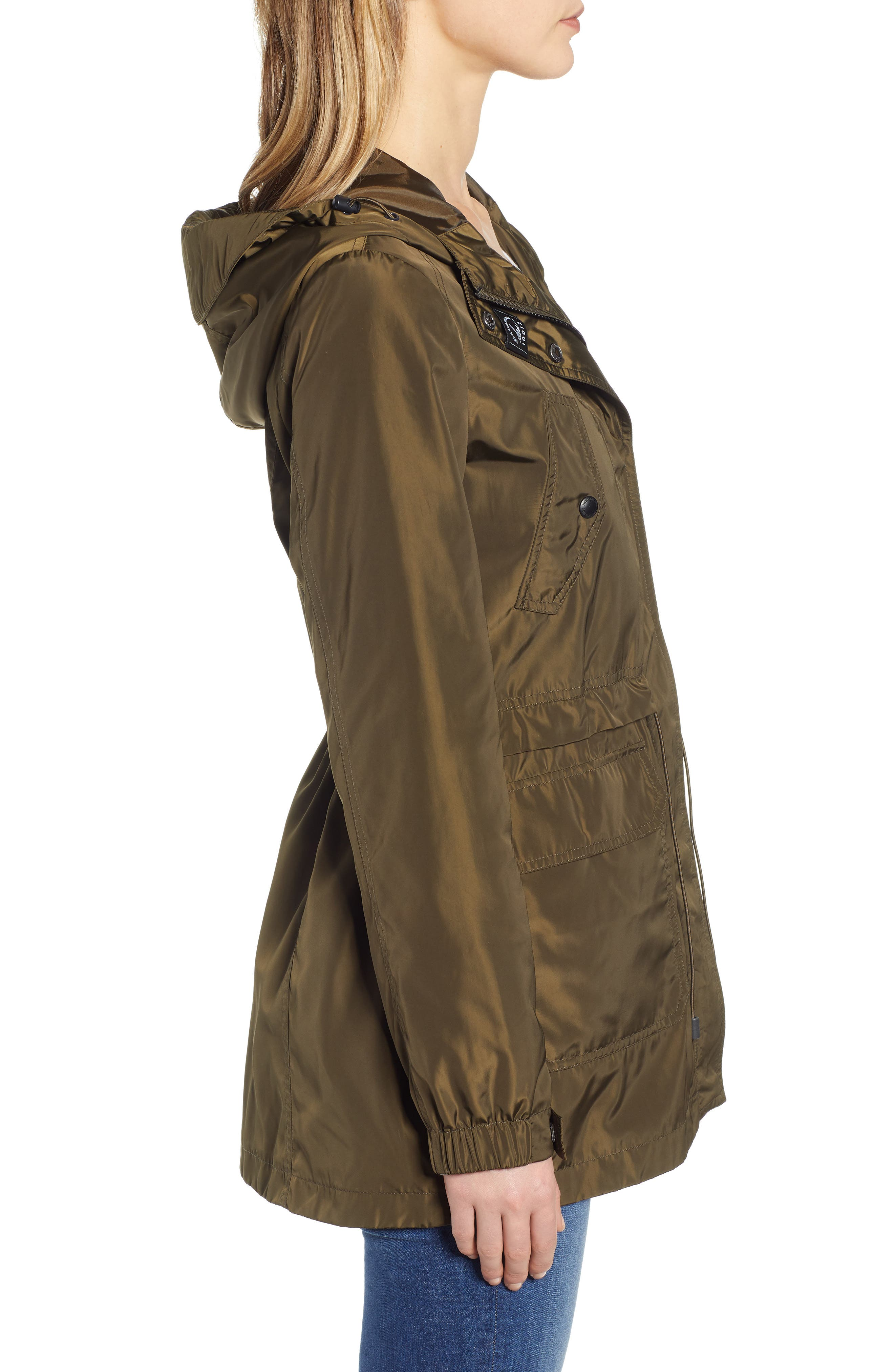 Hooded Water Resistant Parka,                             Alternate thumbnail 3, color,                             LODEN