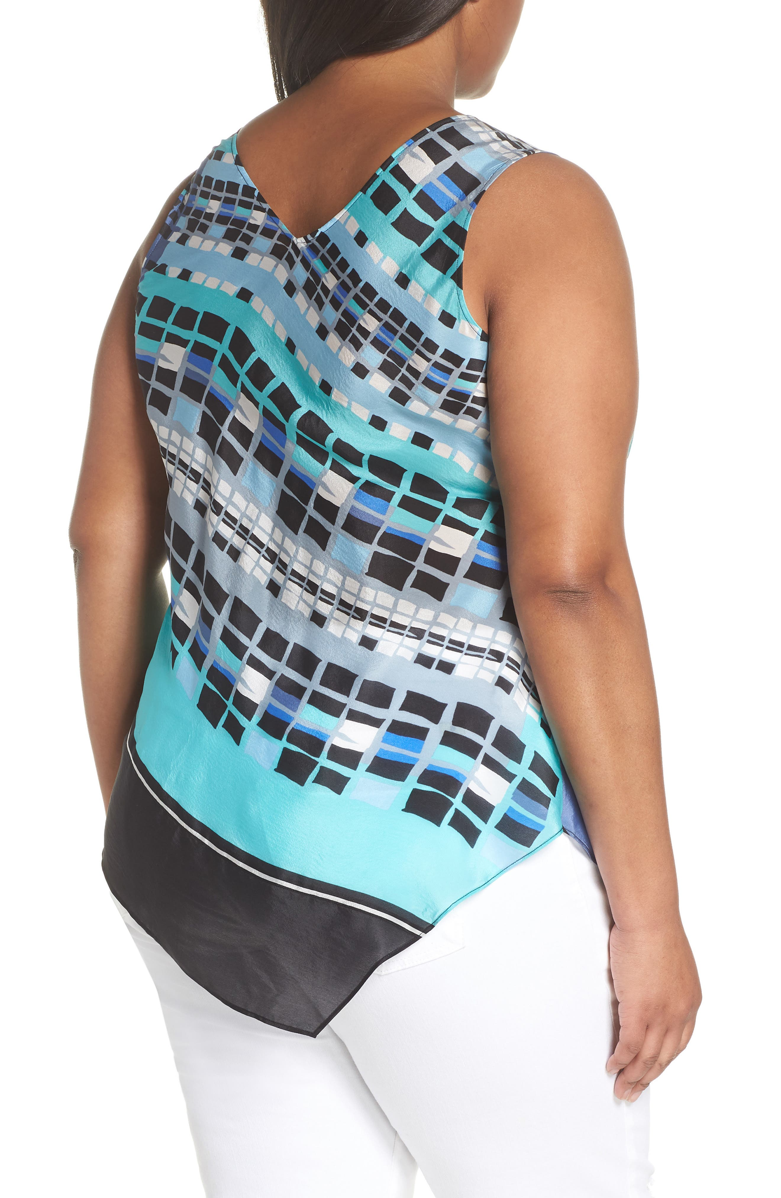 From Top Silk Blend Tank,                             Alternate thumbnail 2, color,                             MULTI