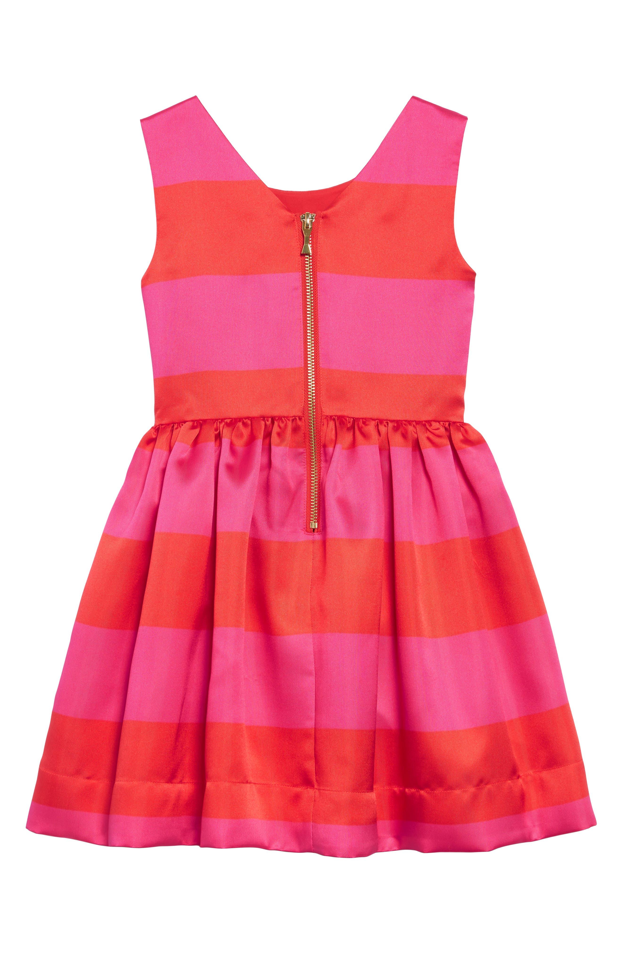carolyn stripe party dress,                             Alternate thumbnail 2, color,                             650