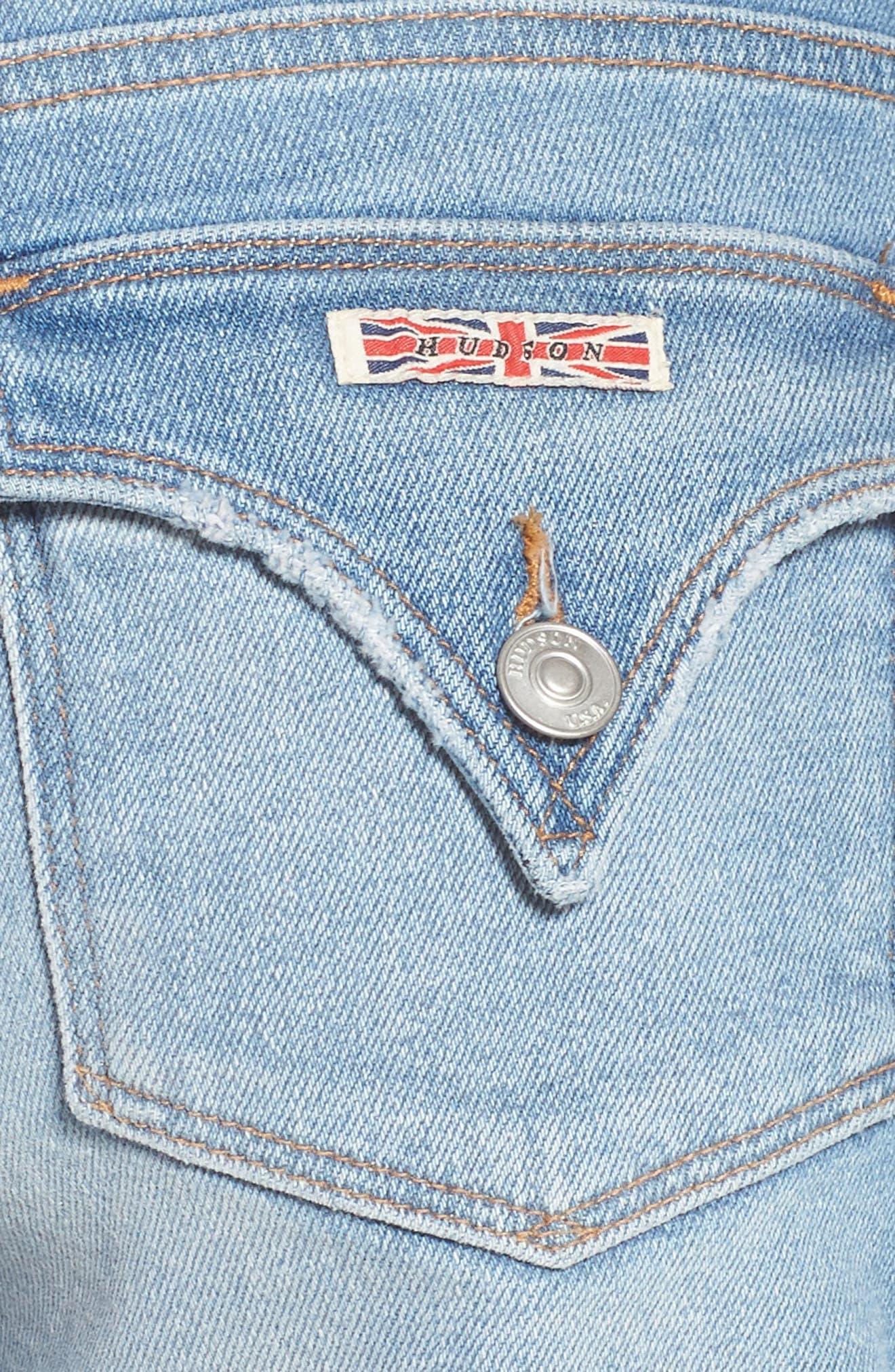 Croxley Cuff Denim Shorts,                             Alternate thumbnail 5, color,                             ROLLING HILLS