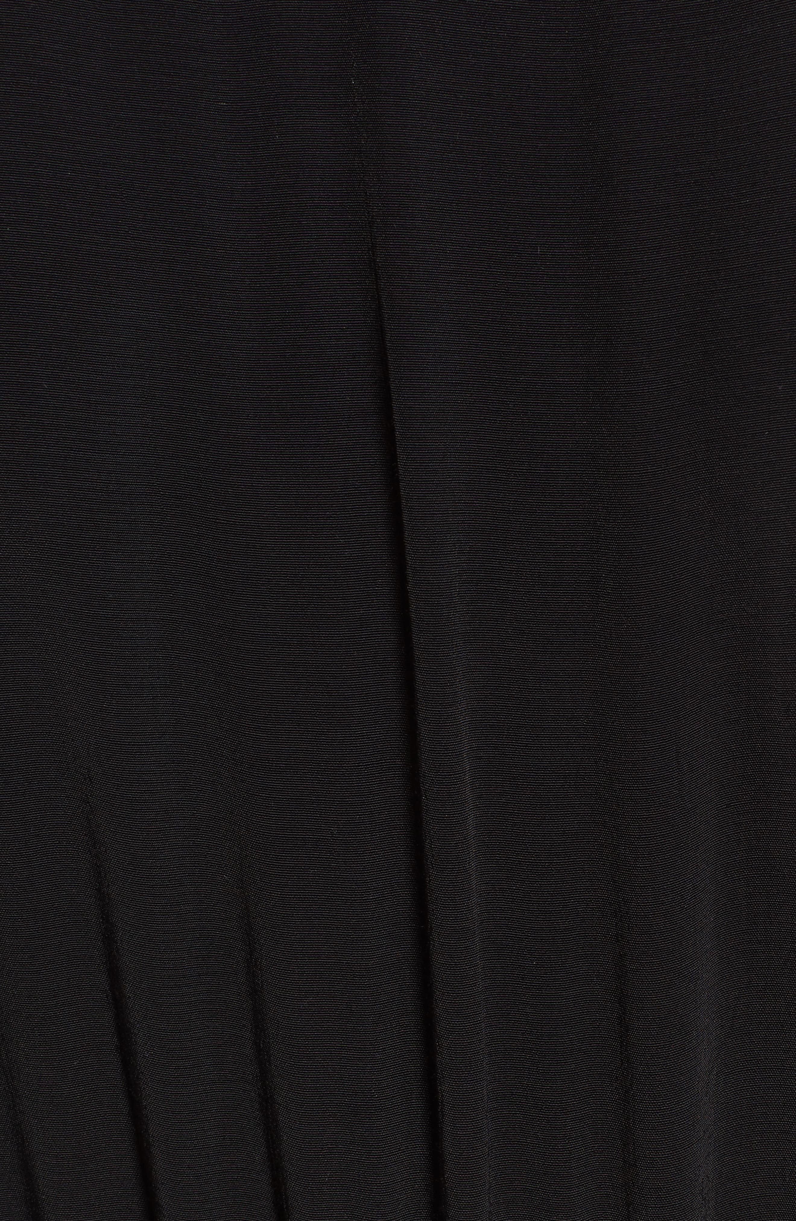 Embroidered Midi Dress,                             Alternate thumbnail 5, color,                             001