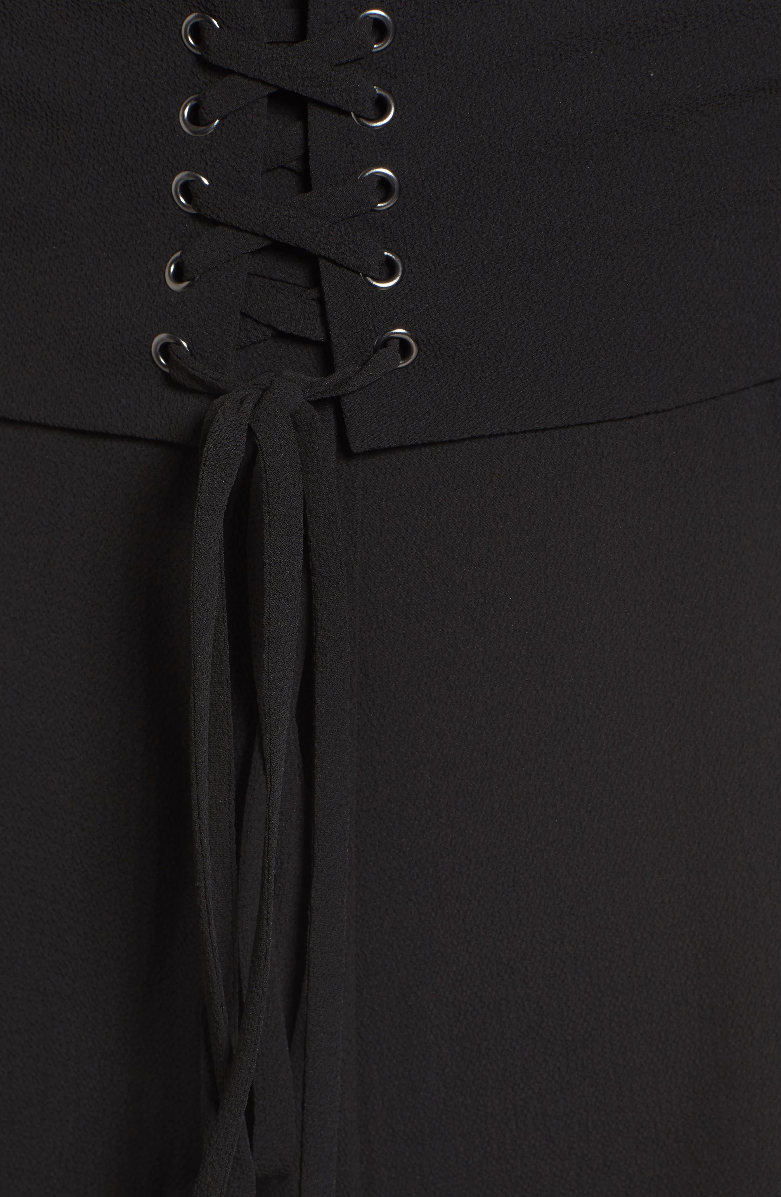 Riply Corset Jumpsuit,                             Alternate thumbnail 5, color,                             001