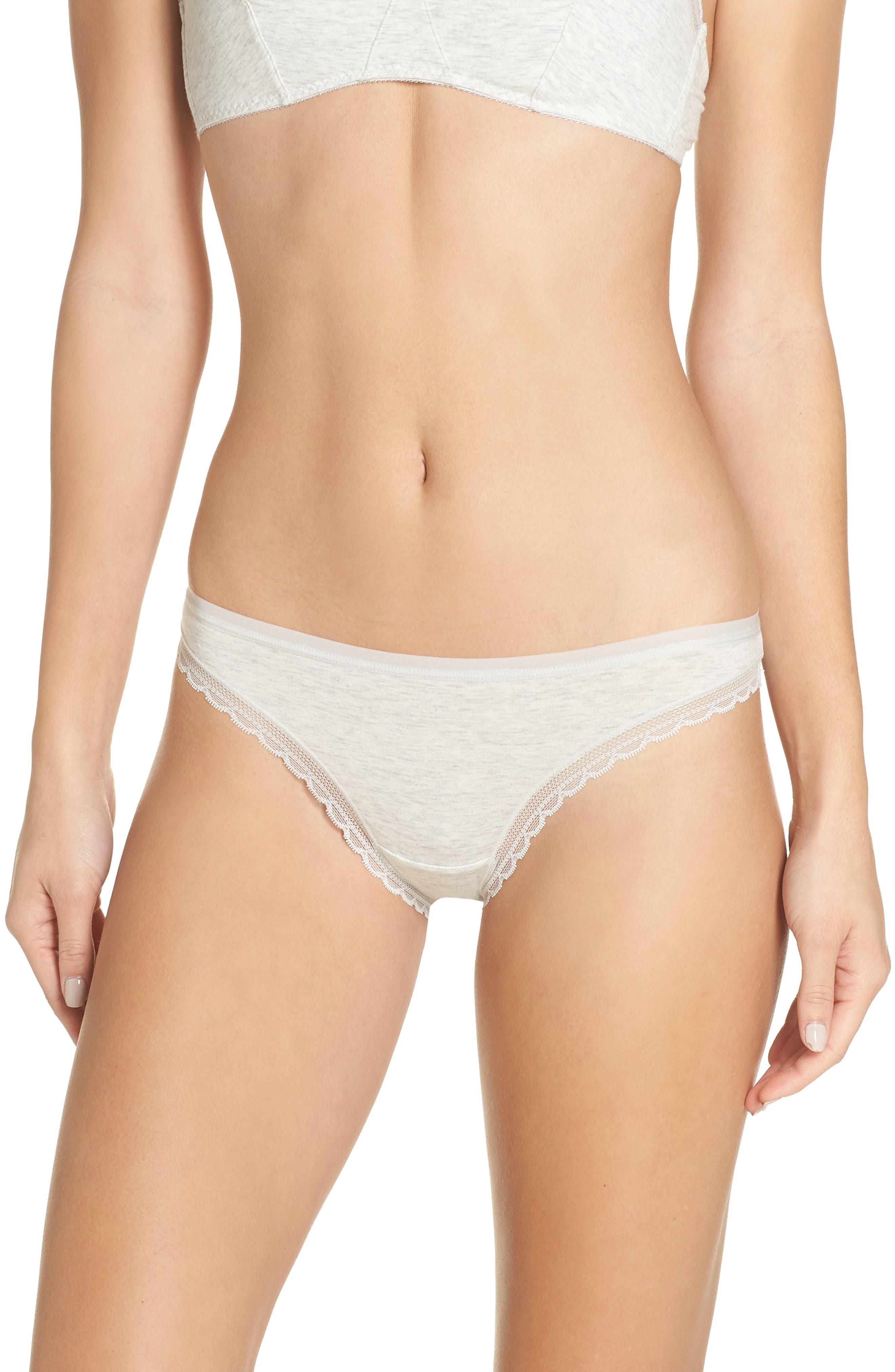 ONGOSSAMER Cabana Cotton Blend Bikini in Heather Grey