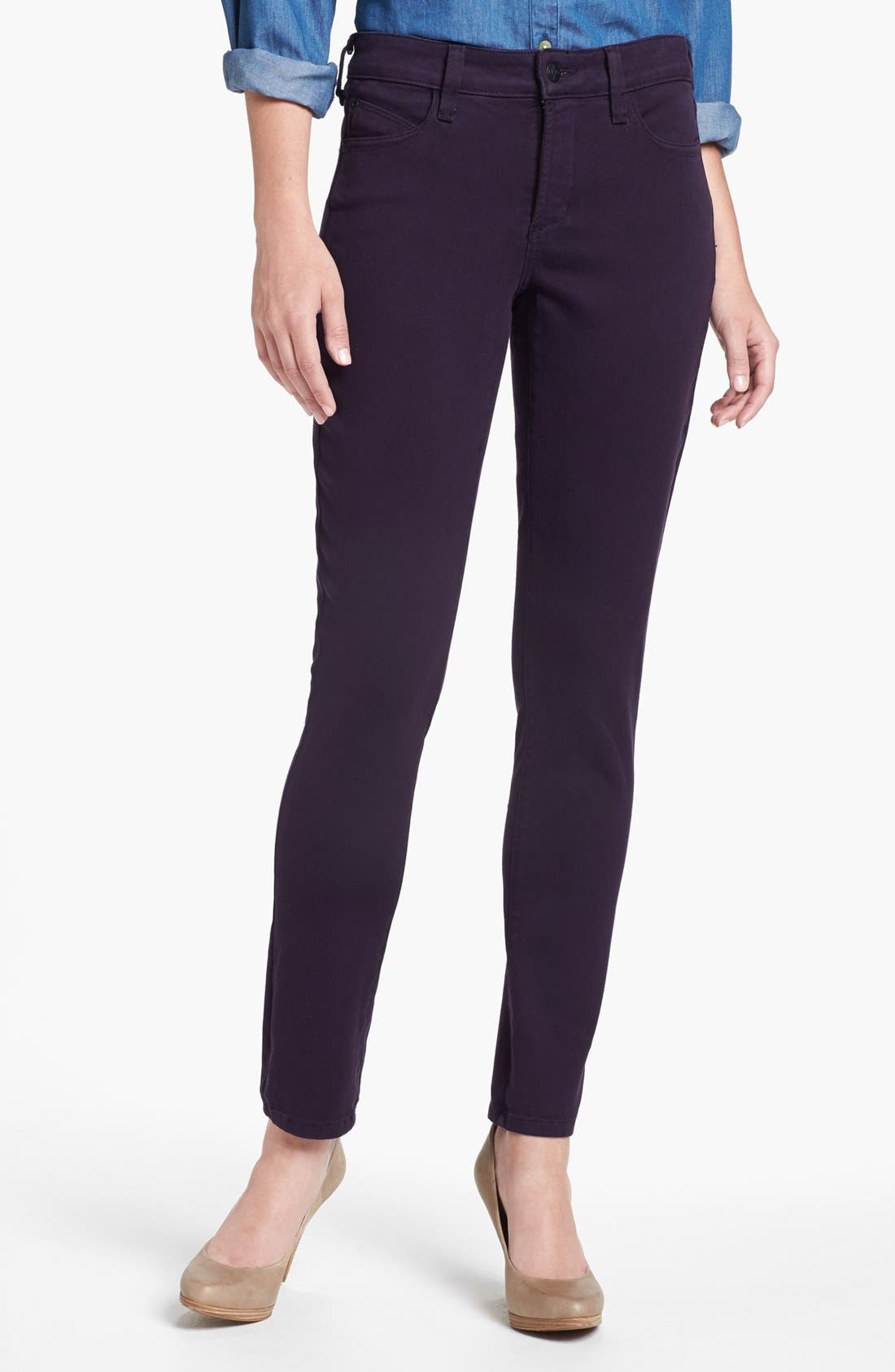 Alina Colored Stretch Skinny Jeans,                             Main thumbnail 30, color,