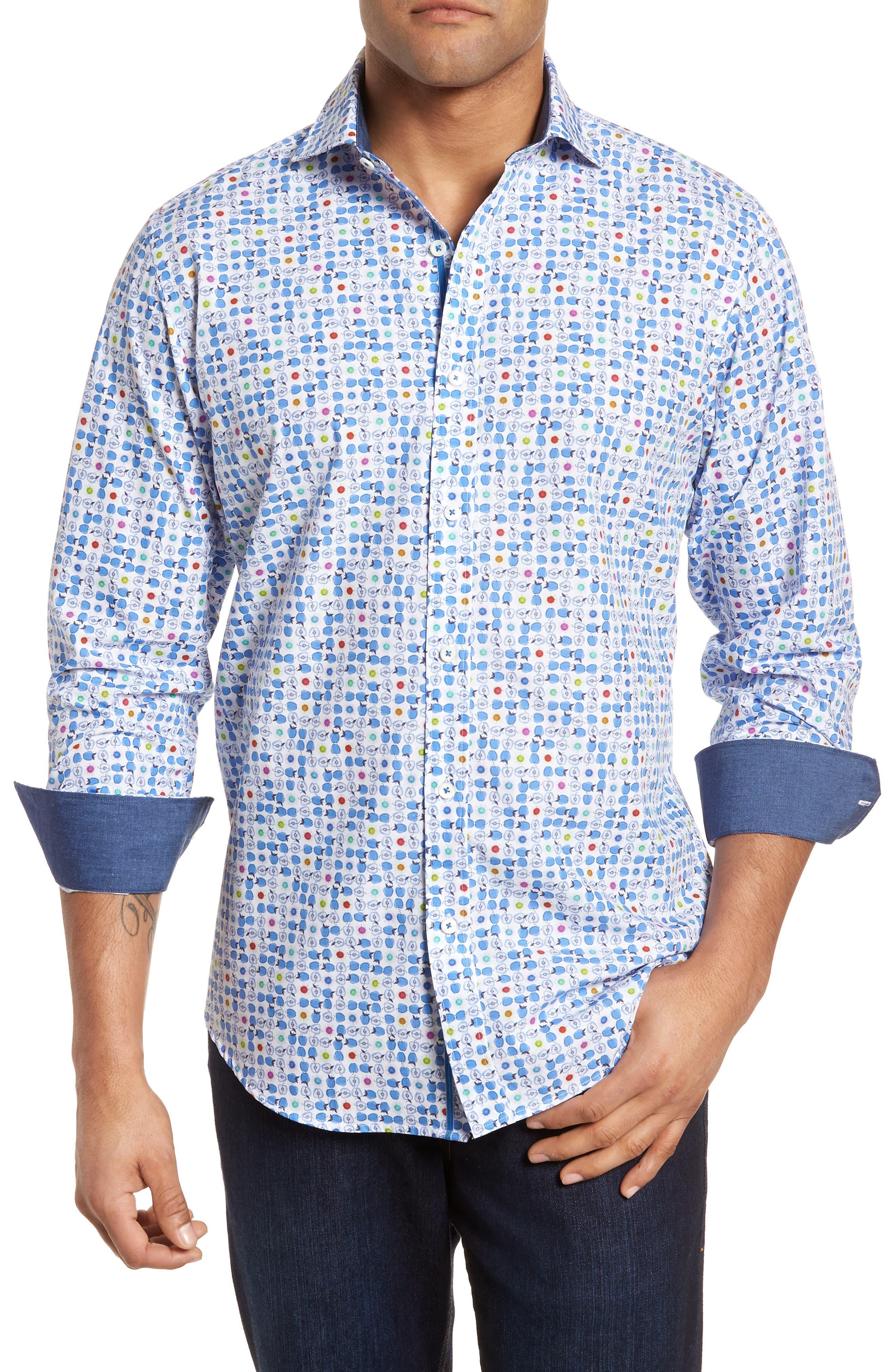Classic Fit Sport Shirt,                         Main,                         color, 420
