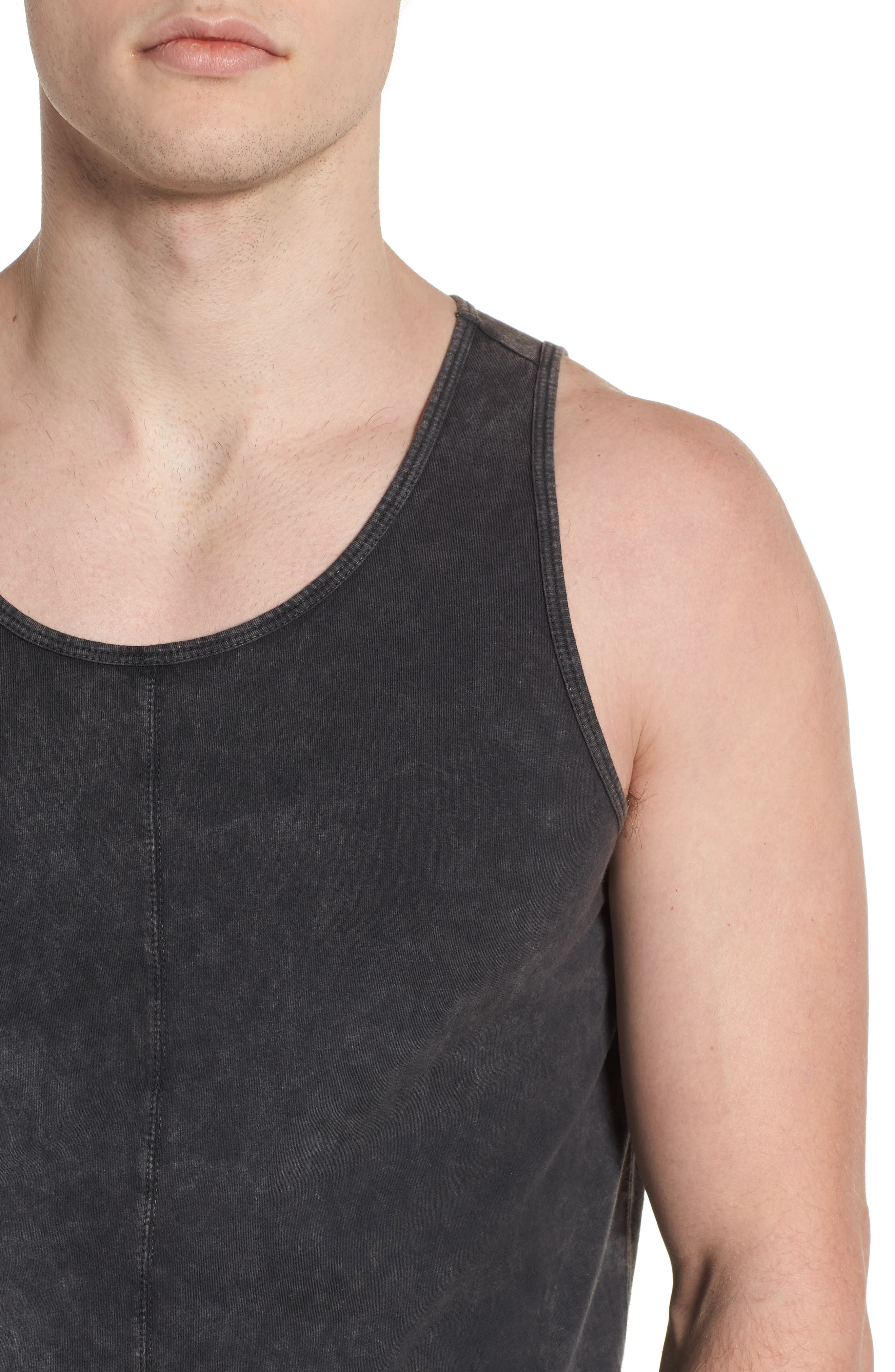 Seamed Tank,                             Alternate thumbnail 4, color,                             CHARCOAL