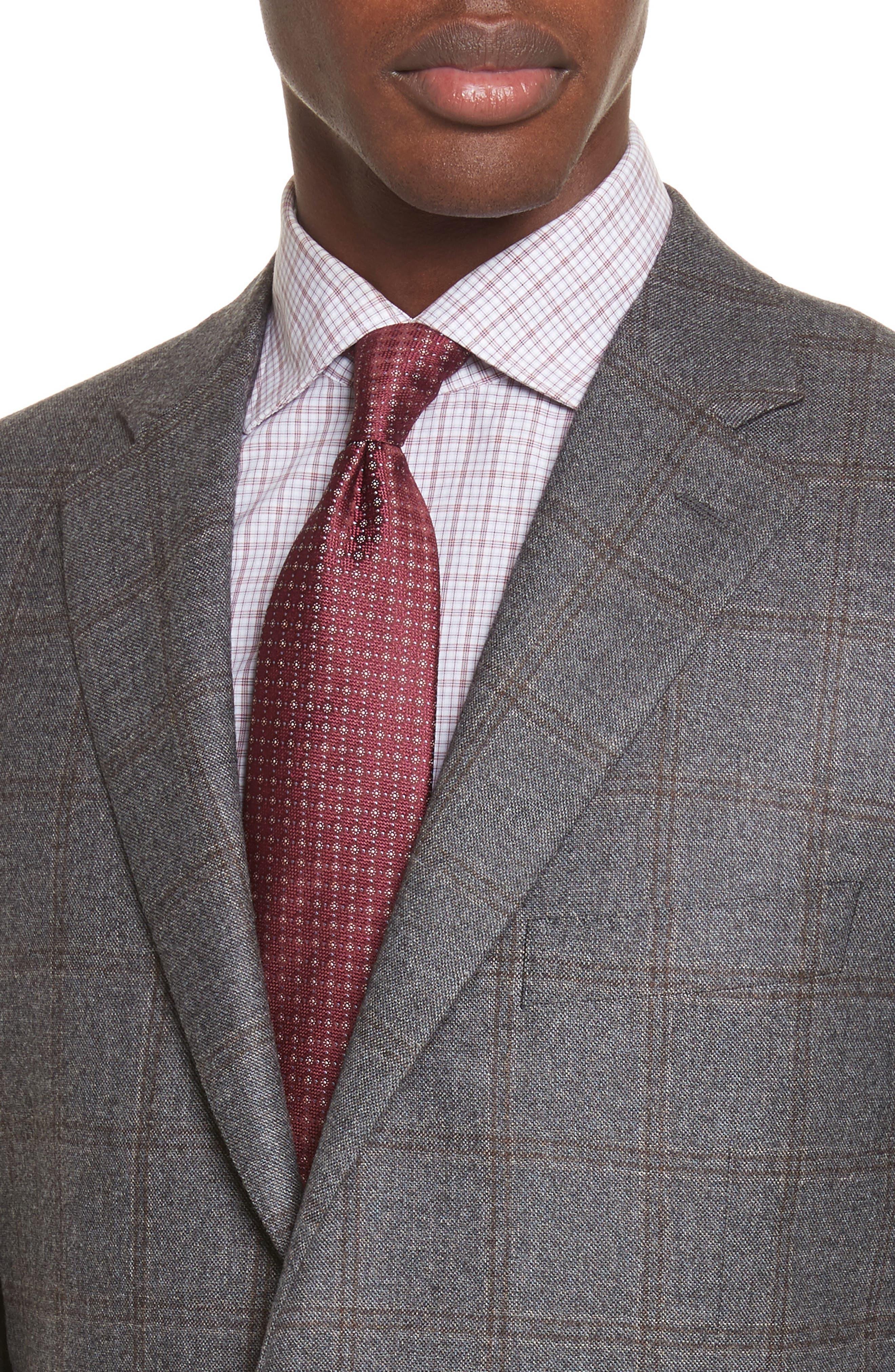 Classic Fit Plaid Wool Suit,                             Alternate thumbnail 4, color,                             030