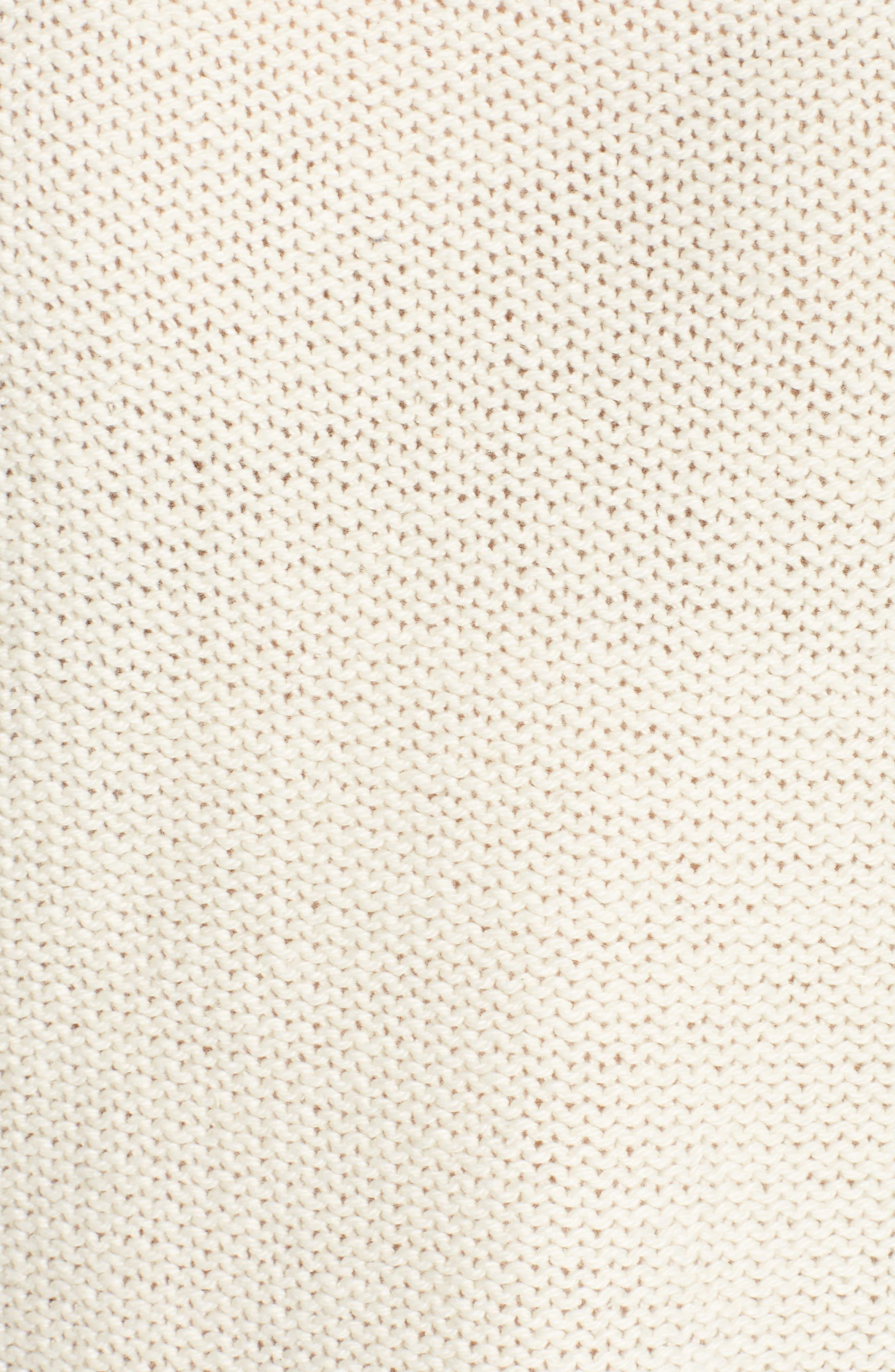 Flecked Turtleneck Sweater,                             Alternate thumbnail 5, color,                             100