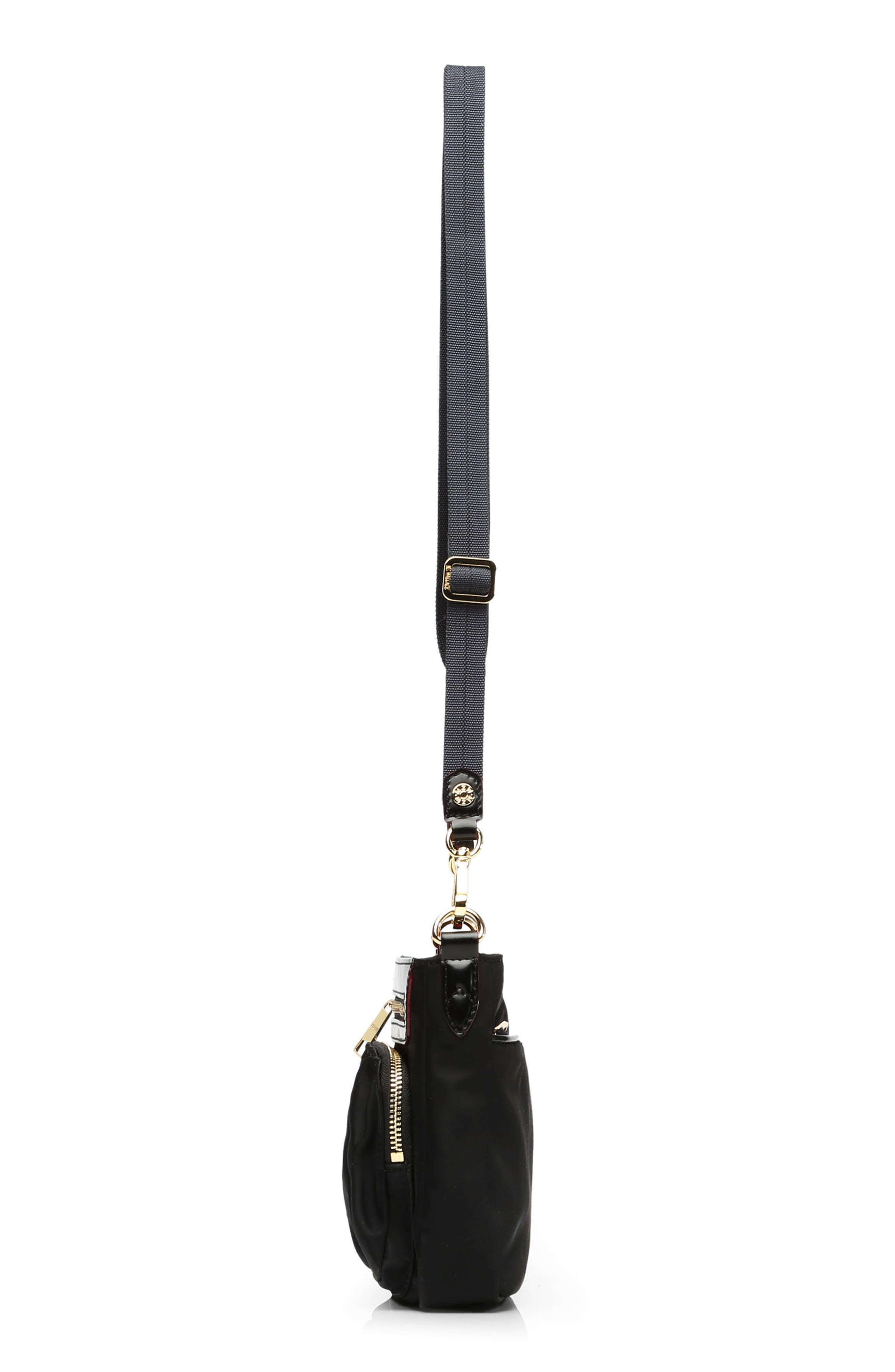 Abbey Crossbody Bag,                             Alternate thumbnail 5, color,                             BLACK BEDFORD