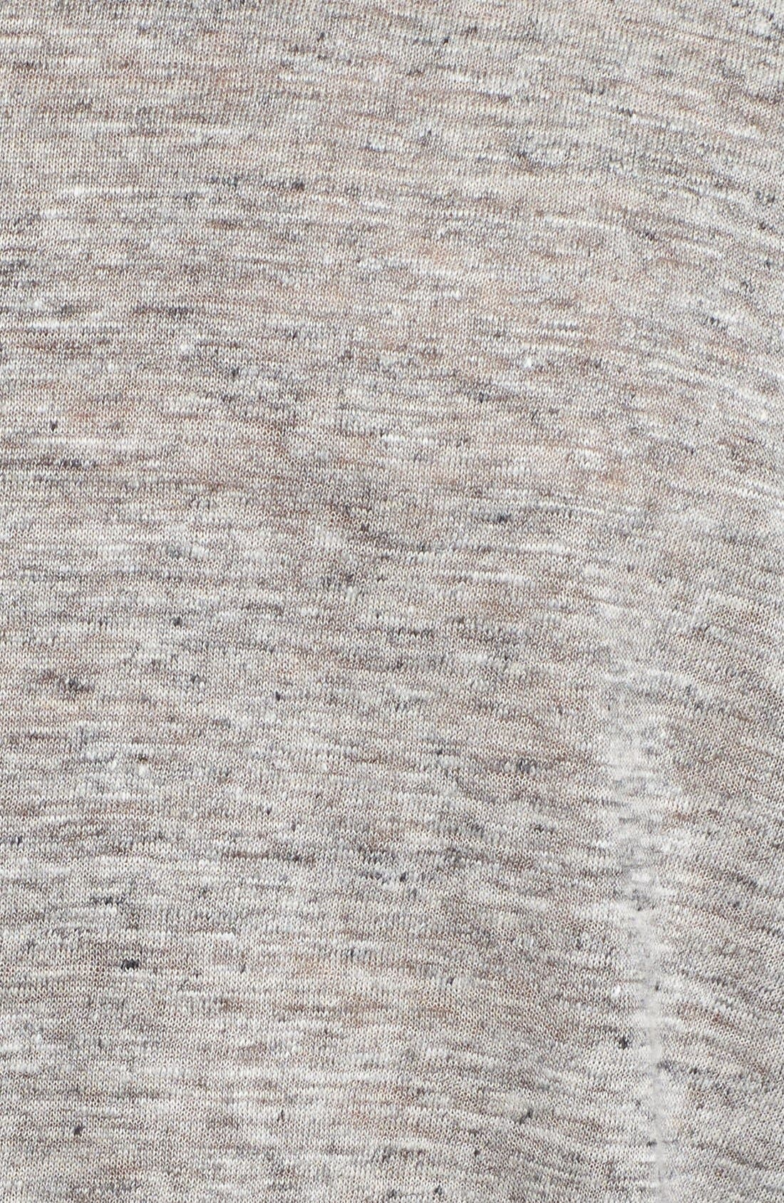 Owen Slub Linen T-Shirt,                             Alternate thumbnail 5, color,                             LIGHT HEATHER GREY