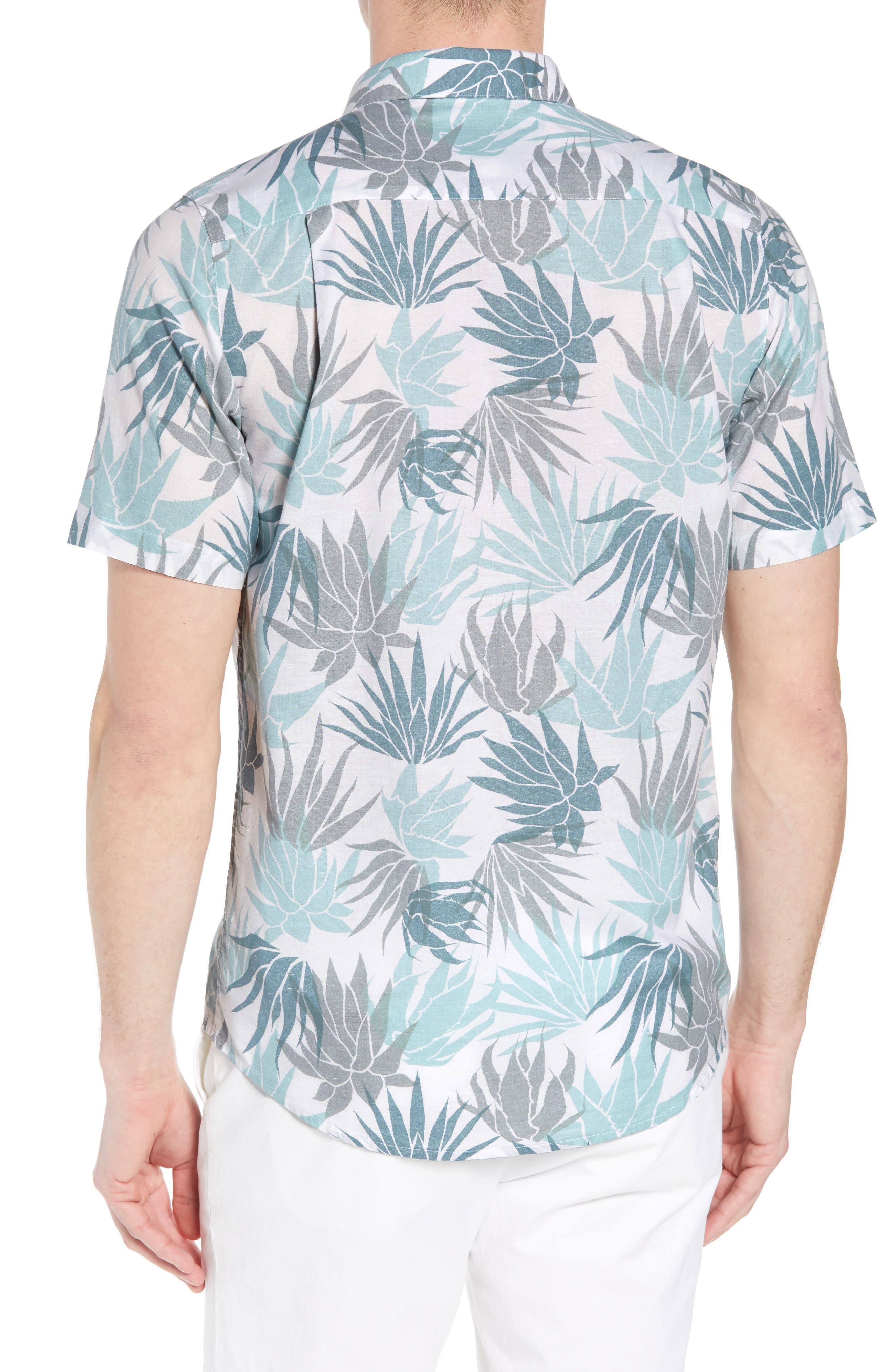 Monocots Regular Fit Sport Shirt,                             Alternate thumbnail 2, color,                             WHITE