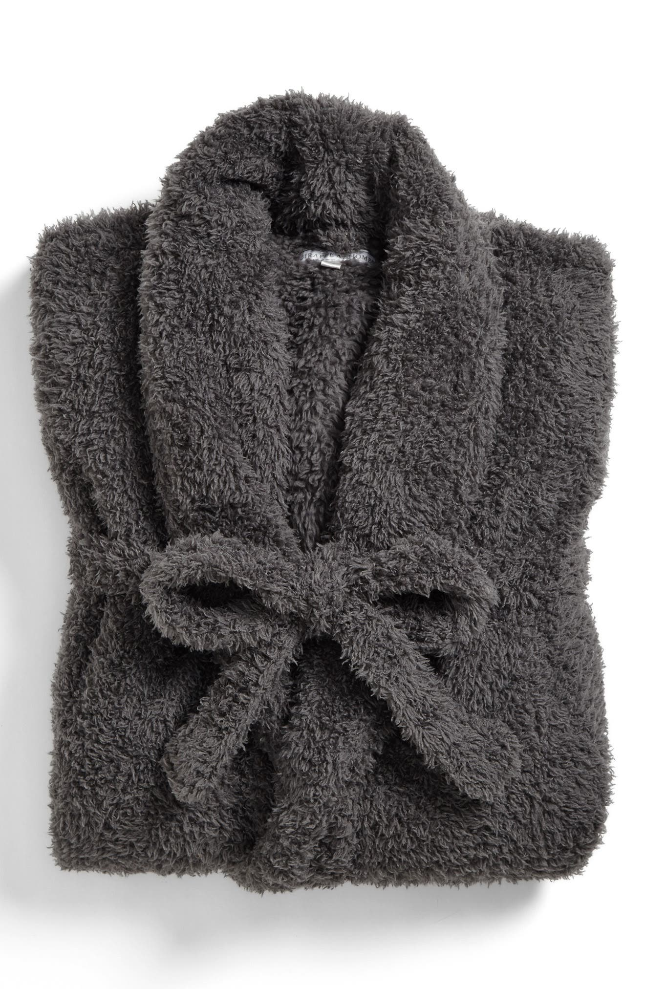 Chenille Robe,                             Alternate thumbnail 4, color,                             CHARCOAL