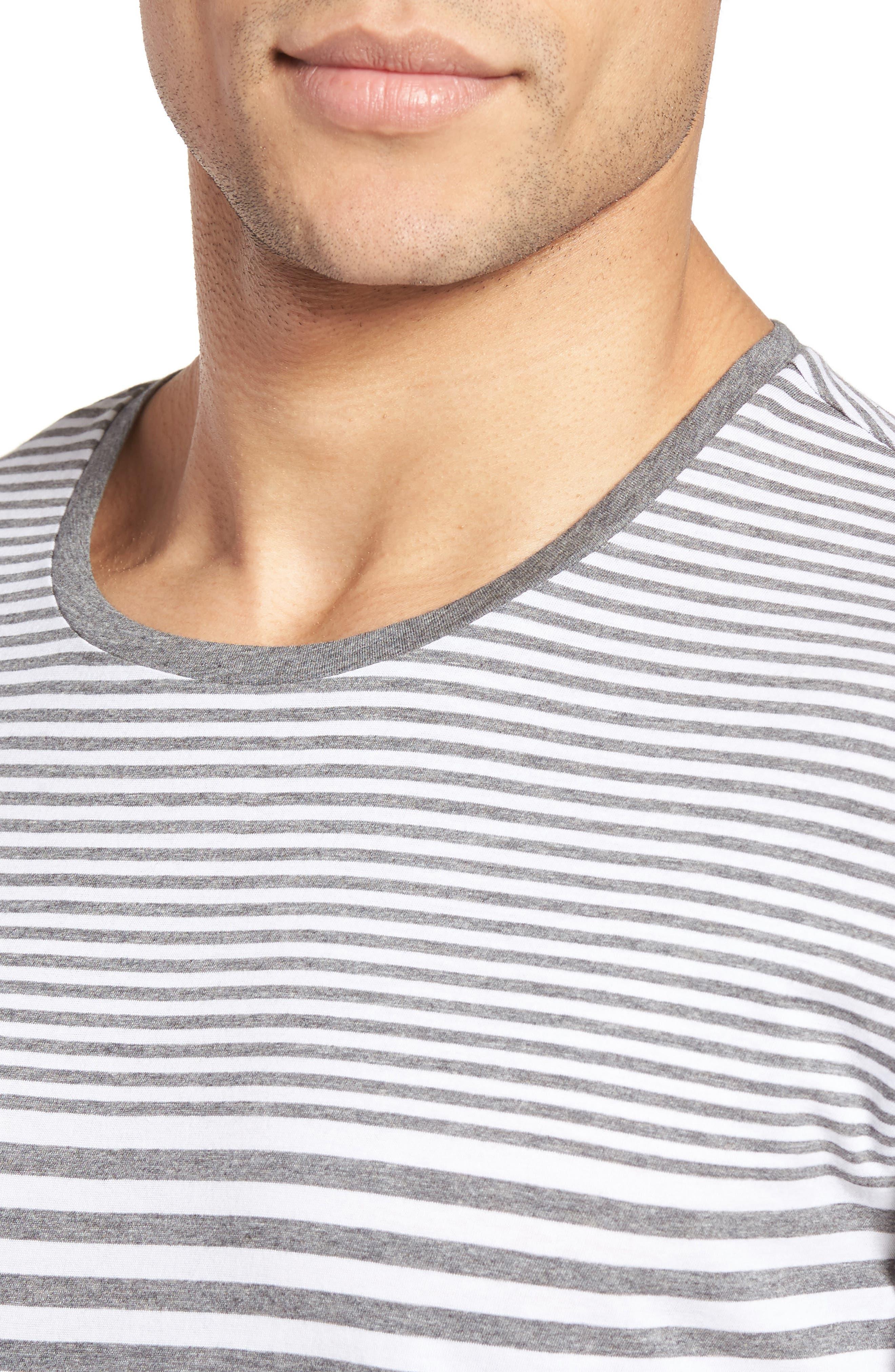 Tessler Slim Fit Stripe T-Shirt,                             Alternate thumbnail 4, color,                             030
