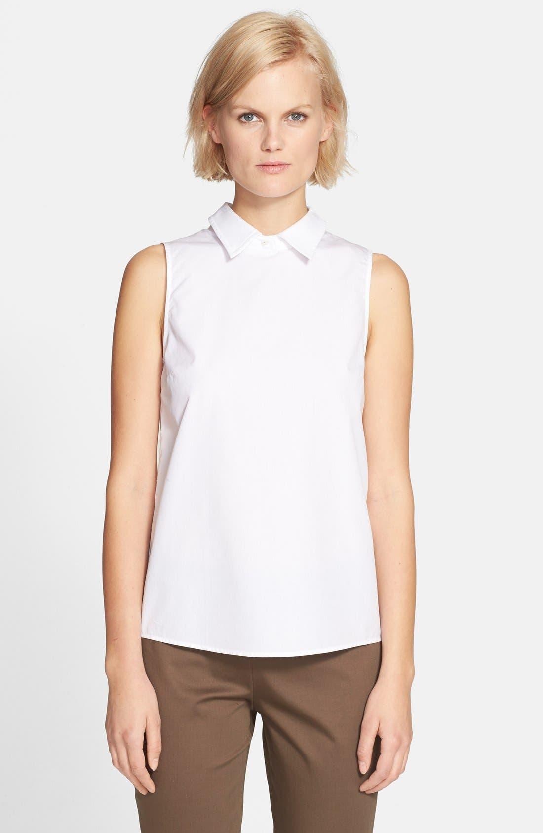 'Marbie' Sleeveless Blouse, Main, color, 100