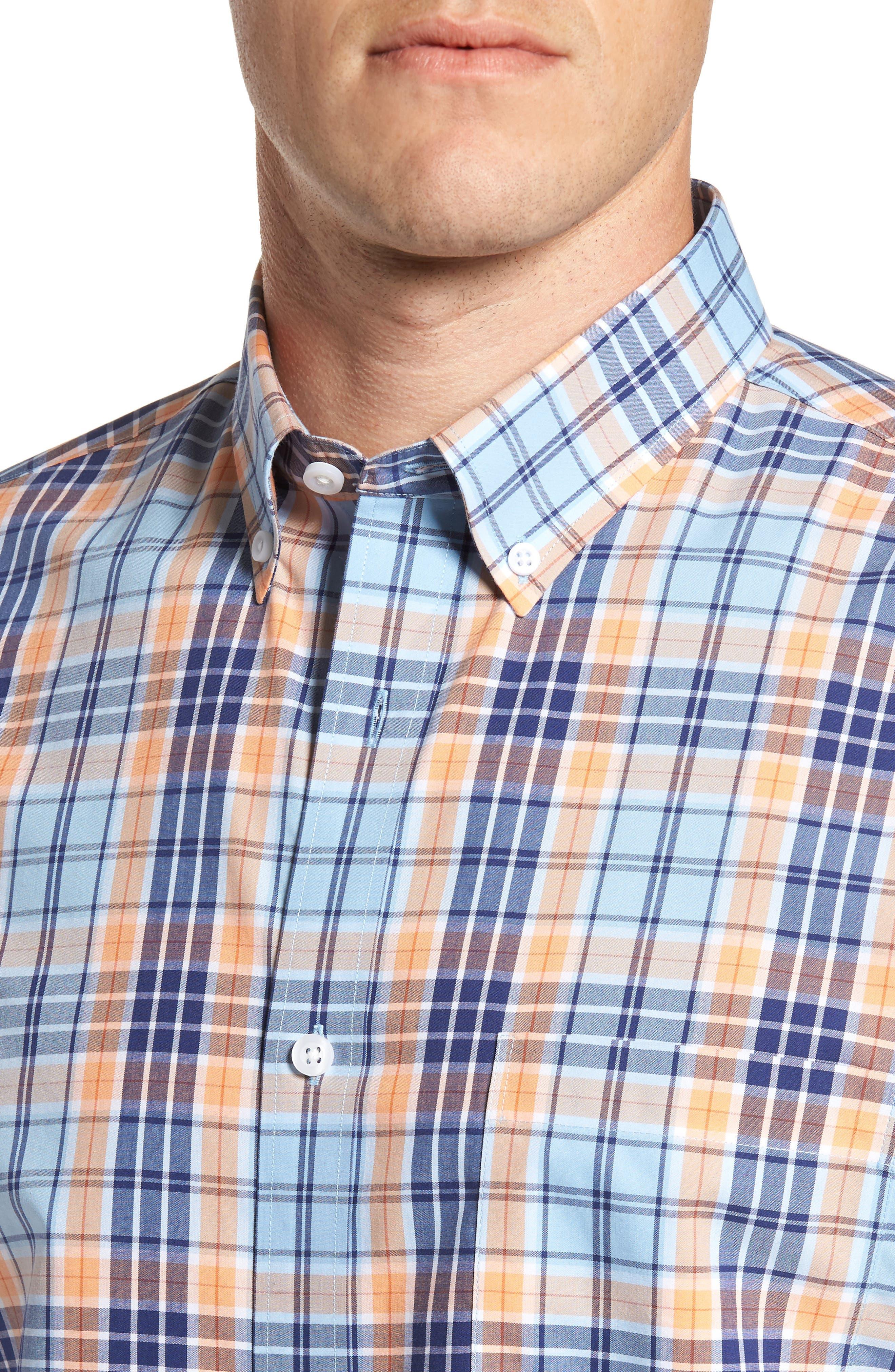Smartcare<sup>™</sup> Regular Fit Plaid Sport Shirt,                             Alternate thumbnail 16, color,