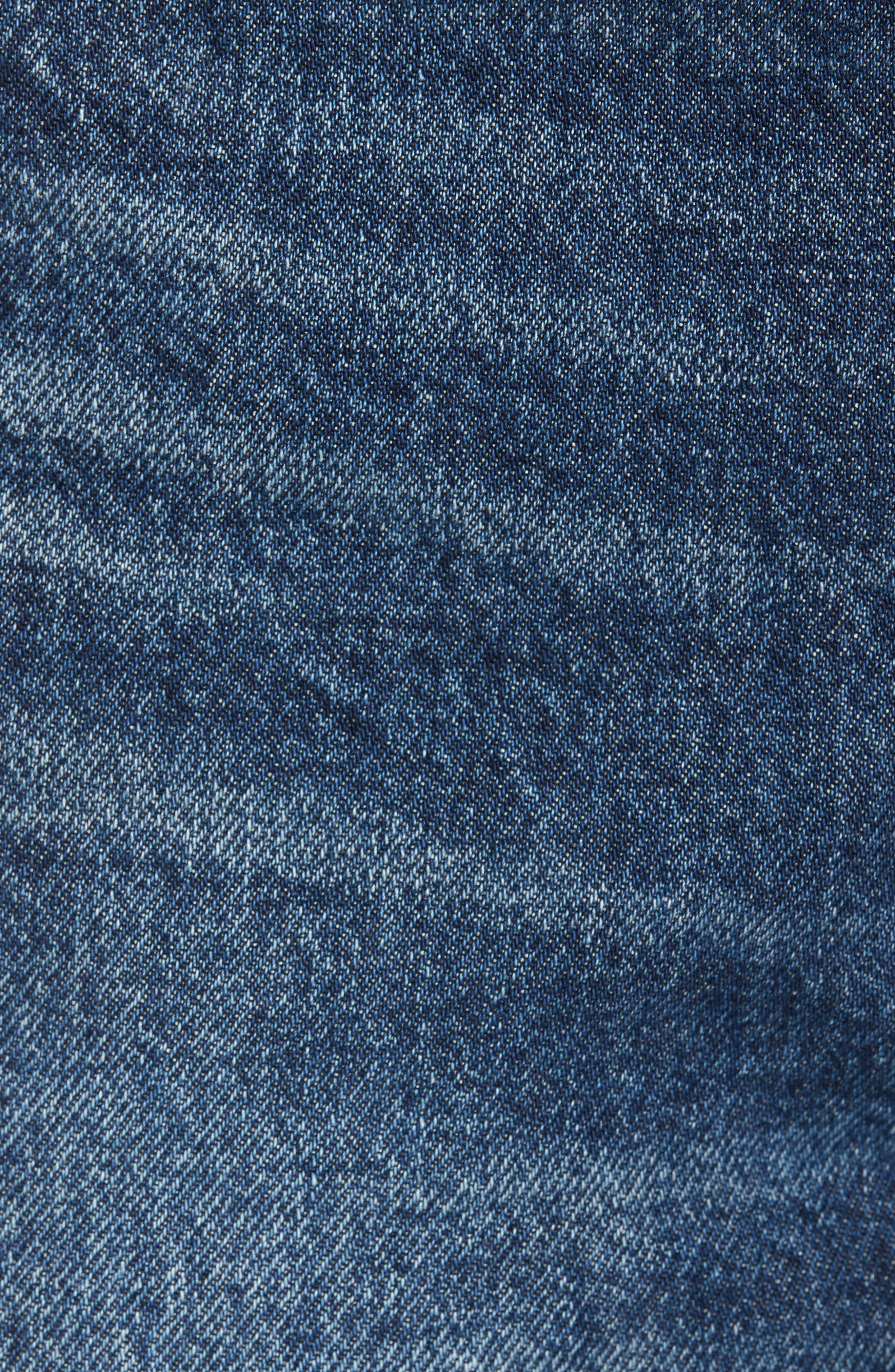 Parker Distressed Denim Shorts,                             Alternate thumbnail 5, color,                             474