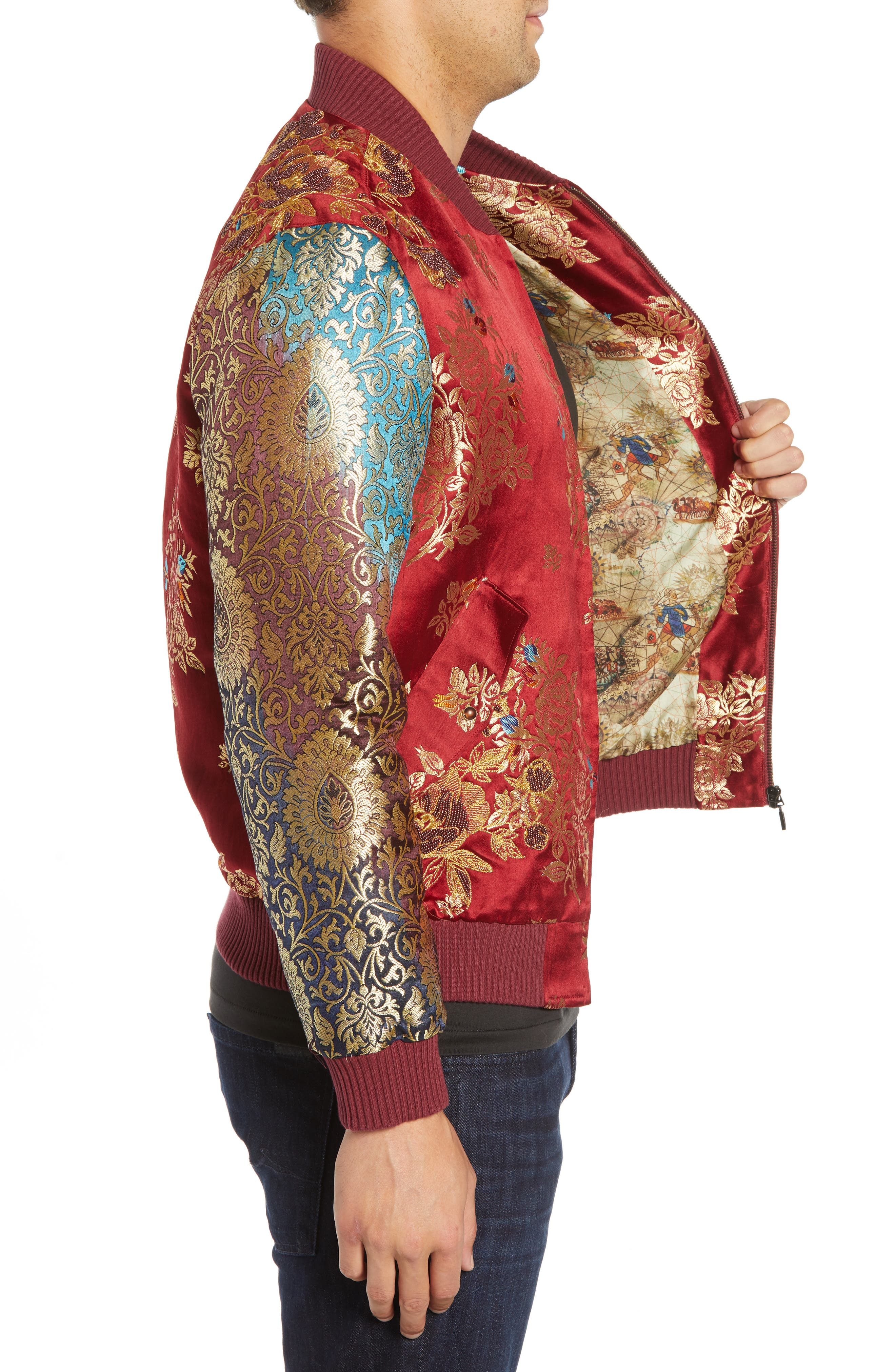 Moser Silk Jacket,                             Alternate thumbnail 3, color,                             MULTI