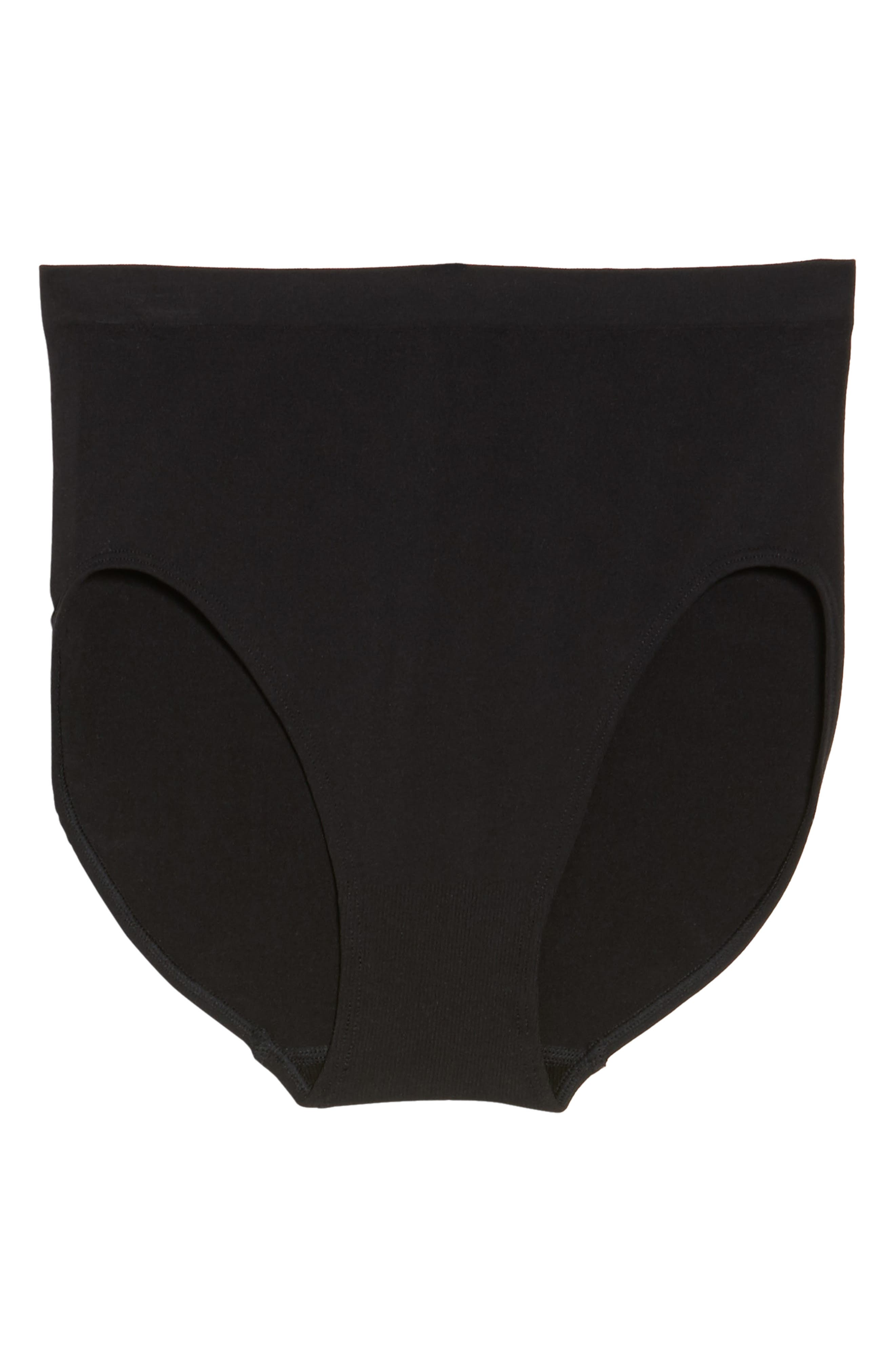 HALOGEN<SUP>®</SUP>,                             High Waist Seamless Briefs,                             Alternate thumbnail 5, color,                             BLACK