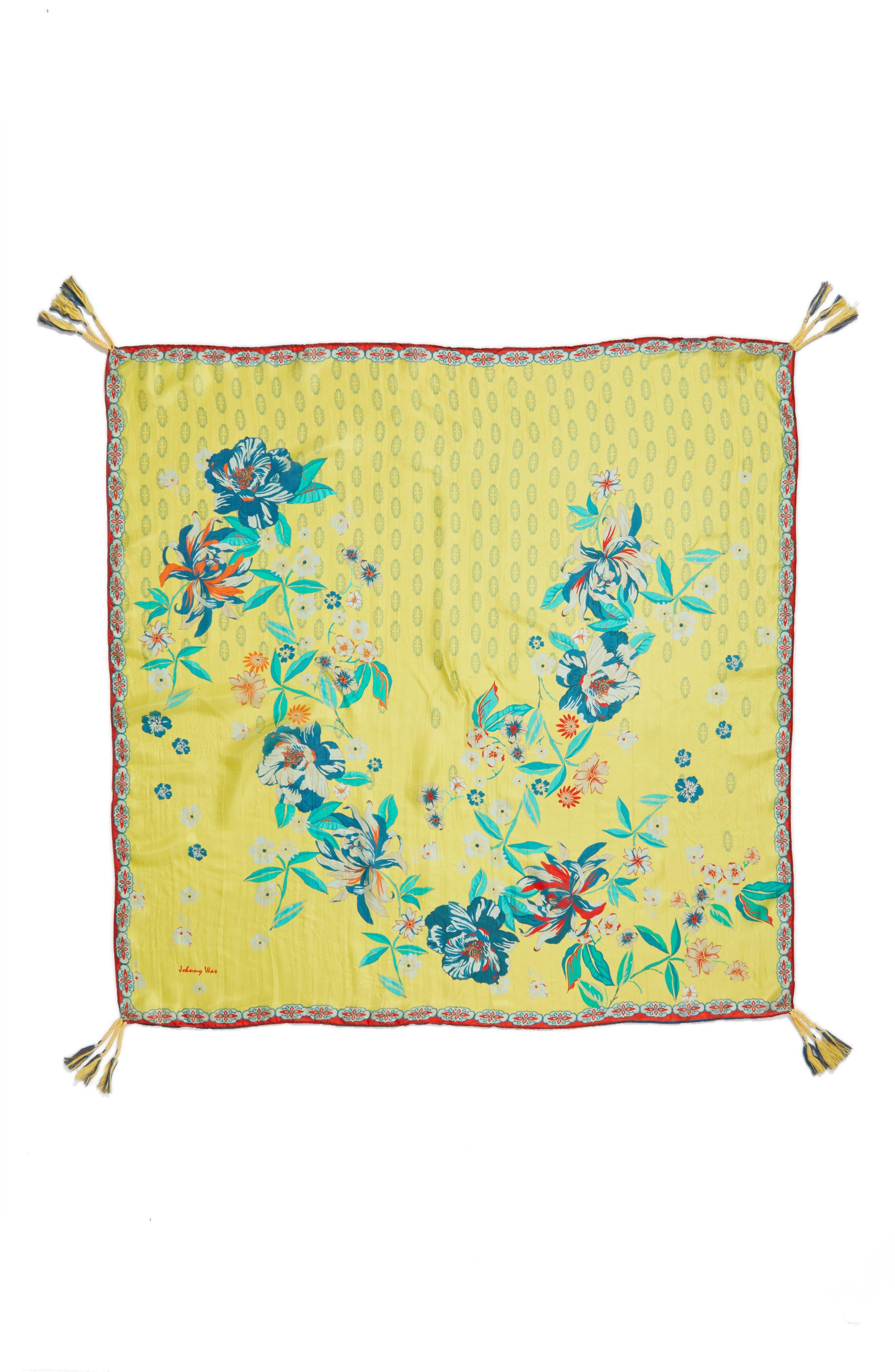 Nancy Square Silk Scarf,                             Alternate thumbnail 2, color,                             700