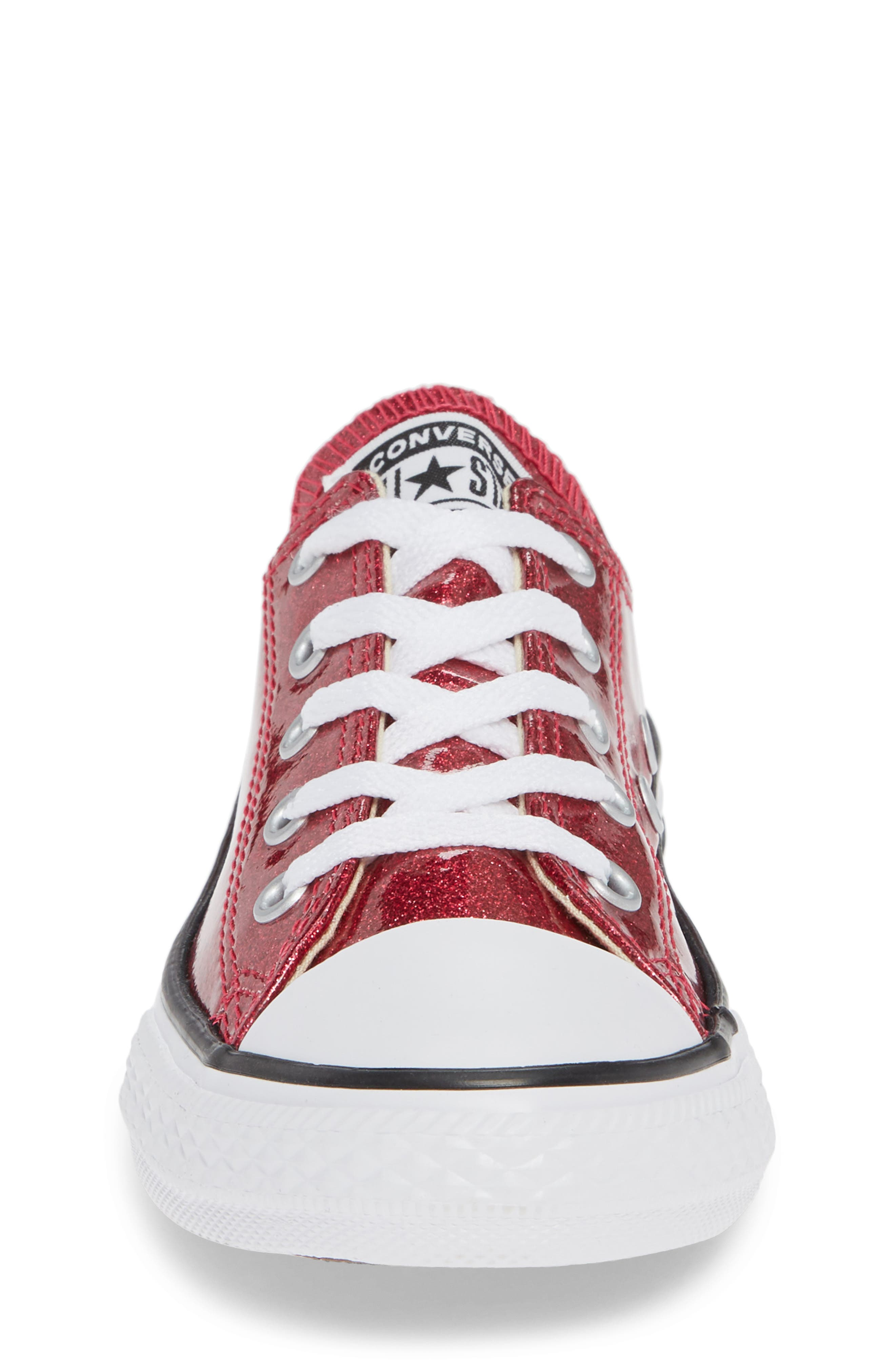 CONVERSE,                             All Star<sup>®</sup> Seasonal Glitter OX Low Top Sneaker,                             Alternate thumbnail 4, color,                             PINK POP