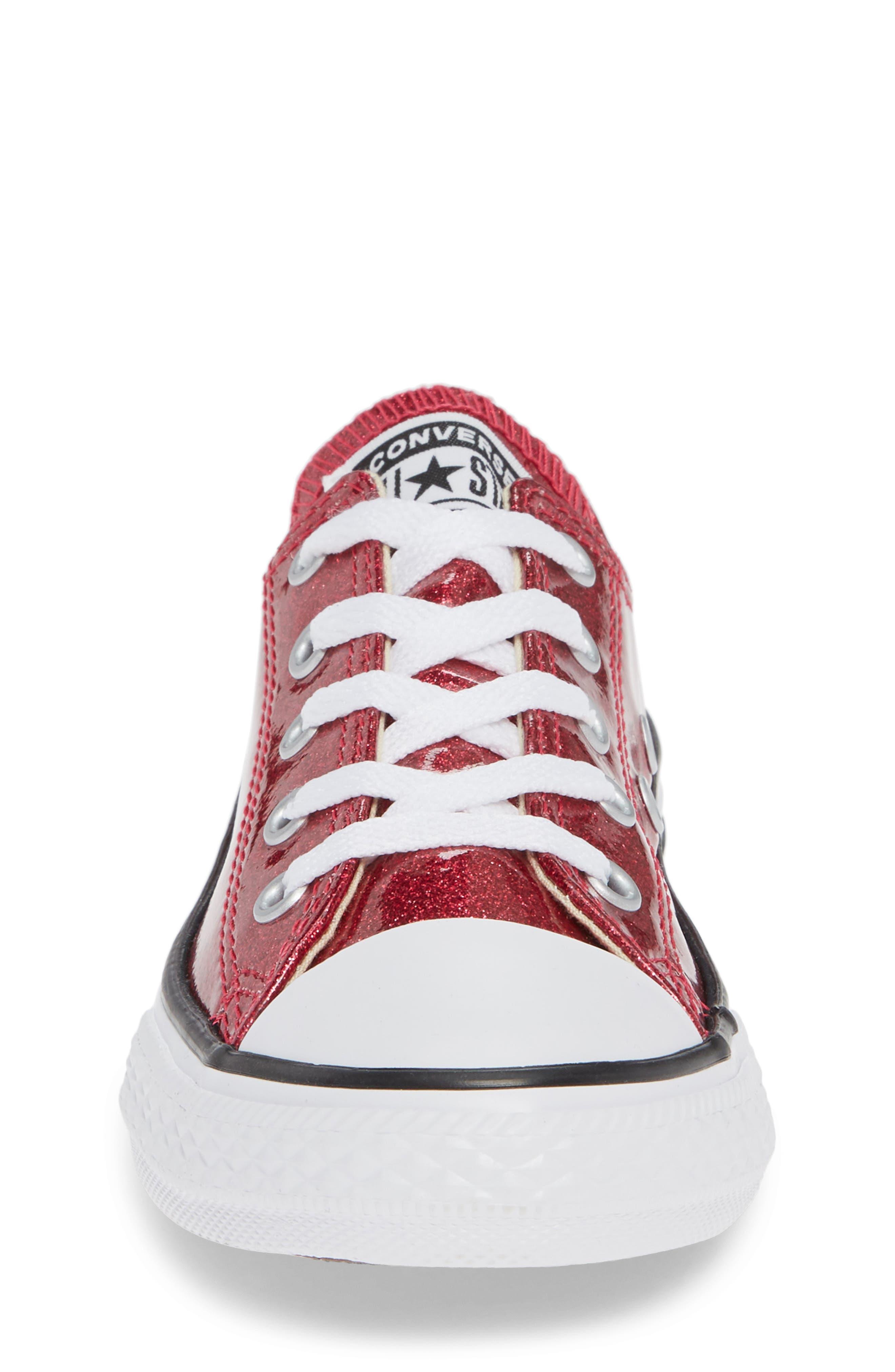 All Star<sup>®</sup> Seasonal Glitter OX Low Top Sneaker,                             Alternate thumbnail 4, color,                             PINK POP