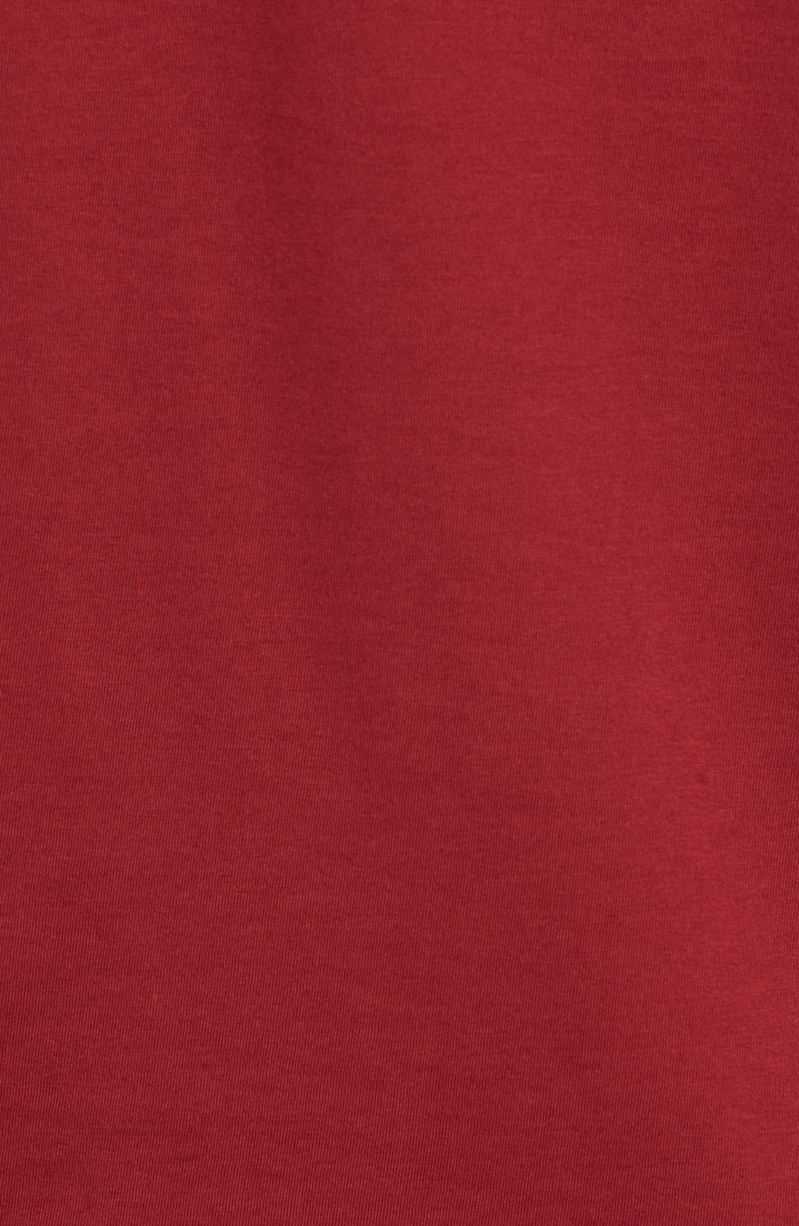Bound Classic Crew T-Shirt,                             Alternate thumbnail 5, color,                             RED