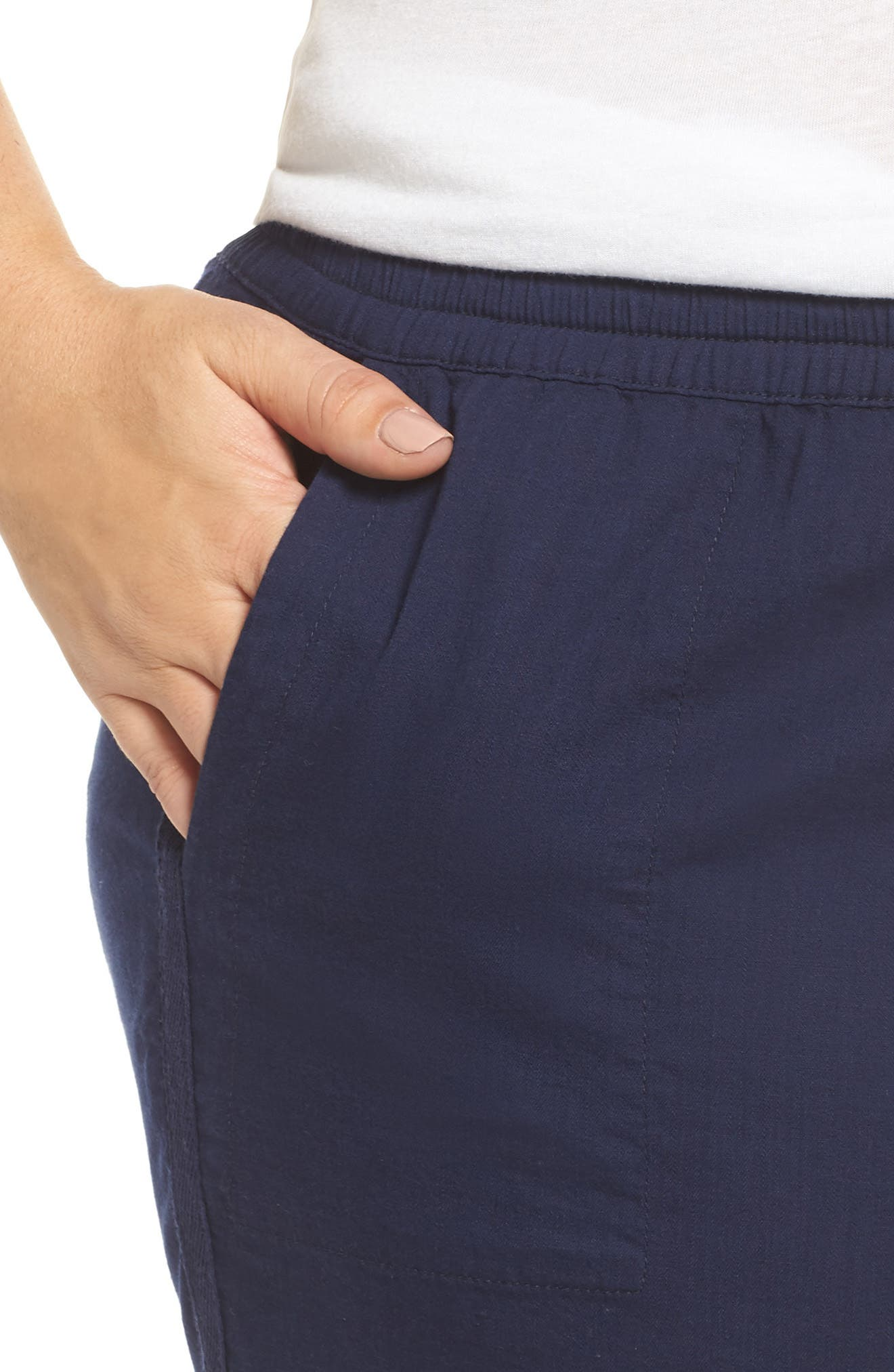 Pull-On Twill Shorts,                             Alternate thumbnail 4, color,                             NAVY PEACOAT