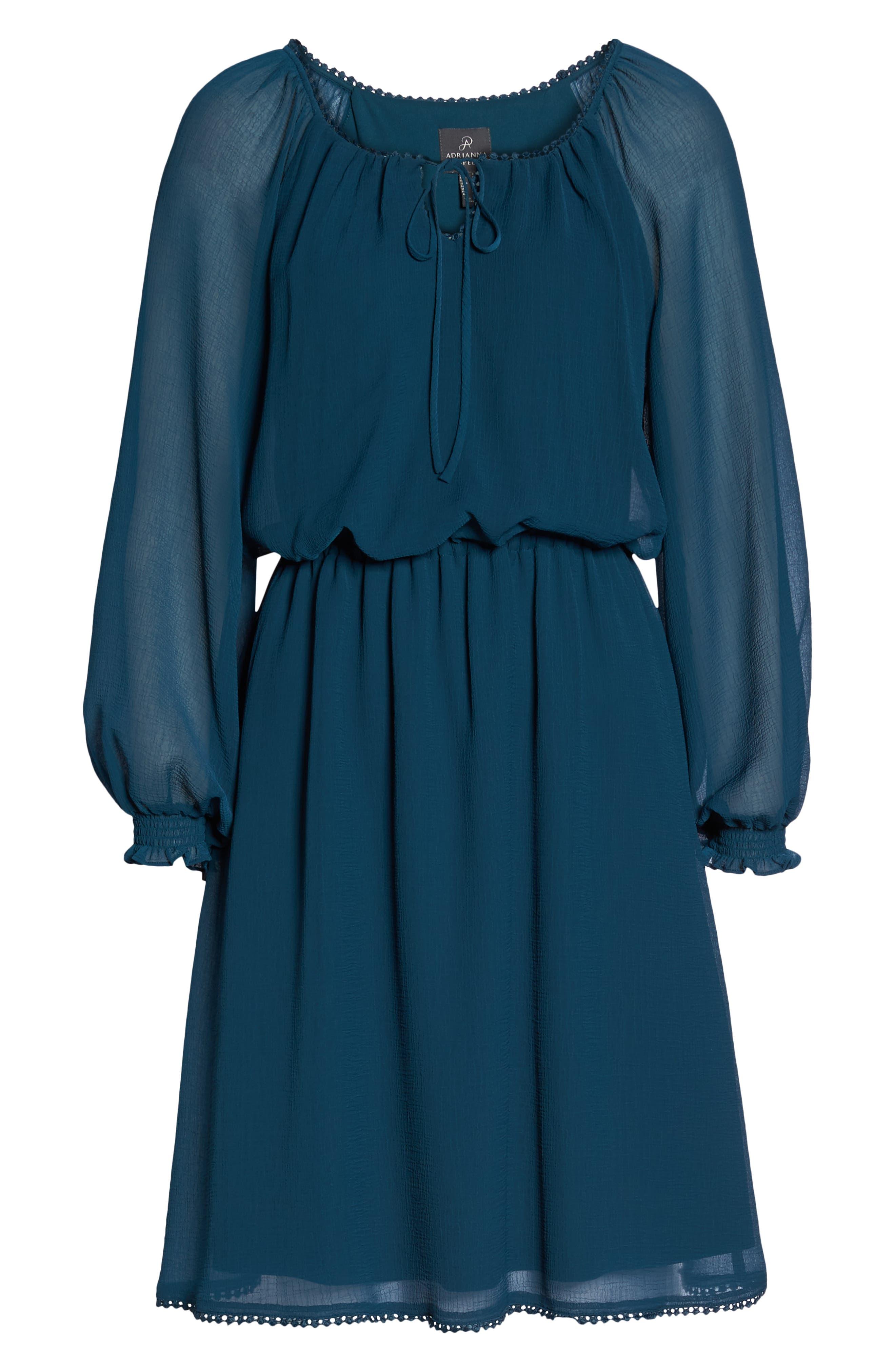 Bishop Sleeve Blouson Dress,                             Alternate thumbnail 7, color,                             441