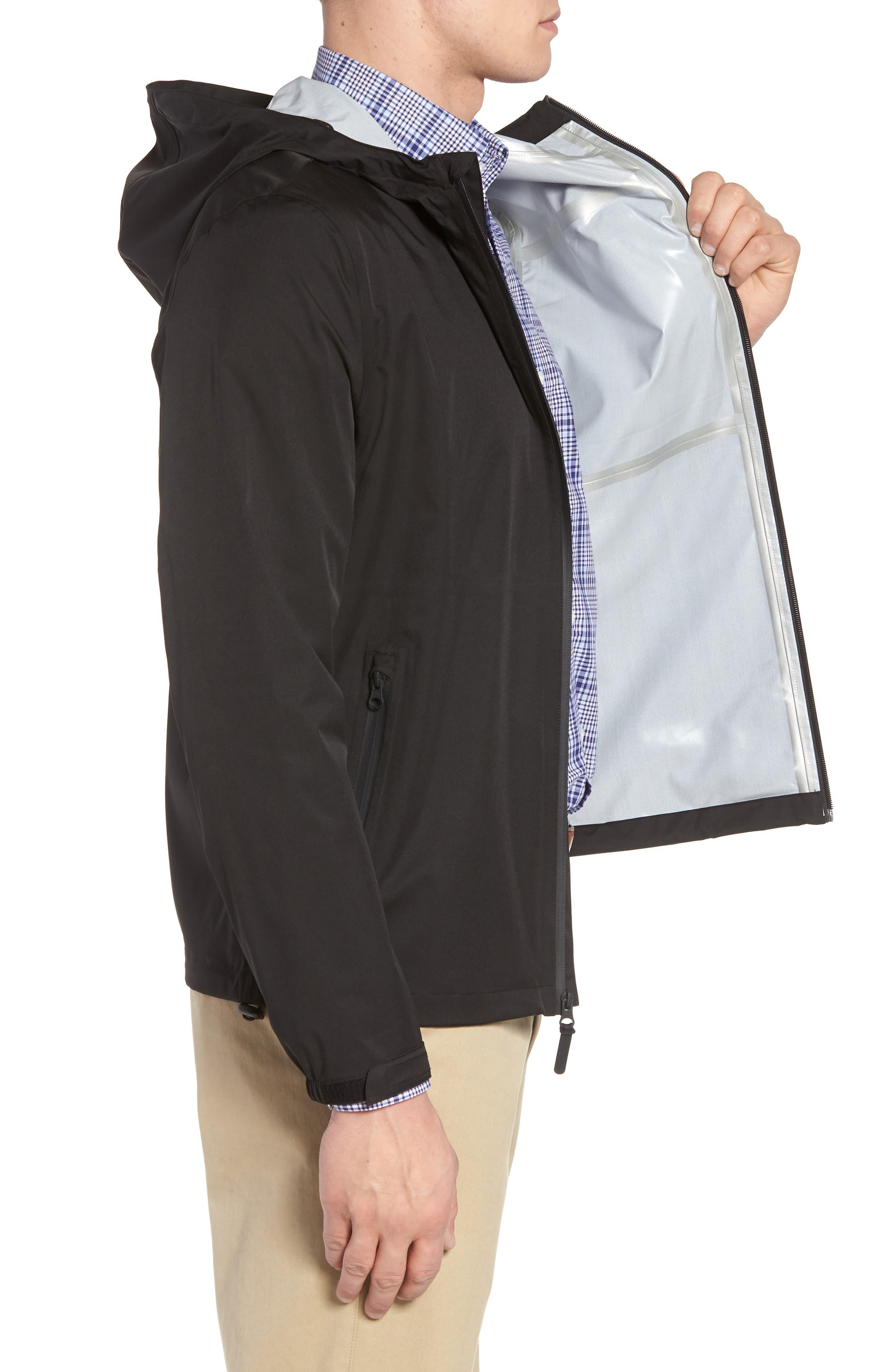 Packable Water Resistant Jacket,                             Alternate thumbnail 3, color,                             BLACK