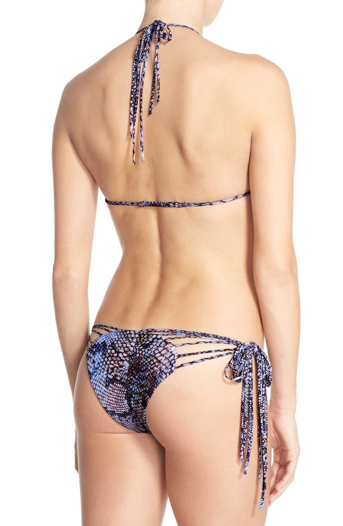 ALE BY ALESSANDRA,                             'Boa Forma' Triangle Bikini Top,                             Alternate thumbnail 3, color,                             400