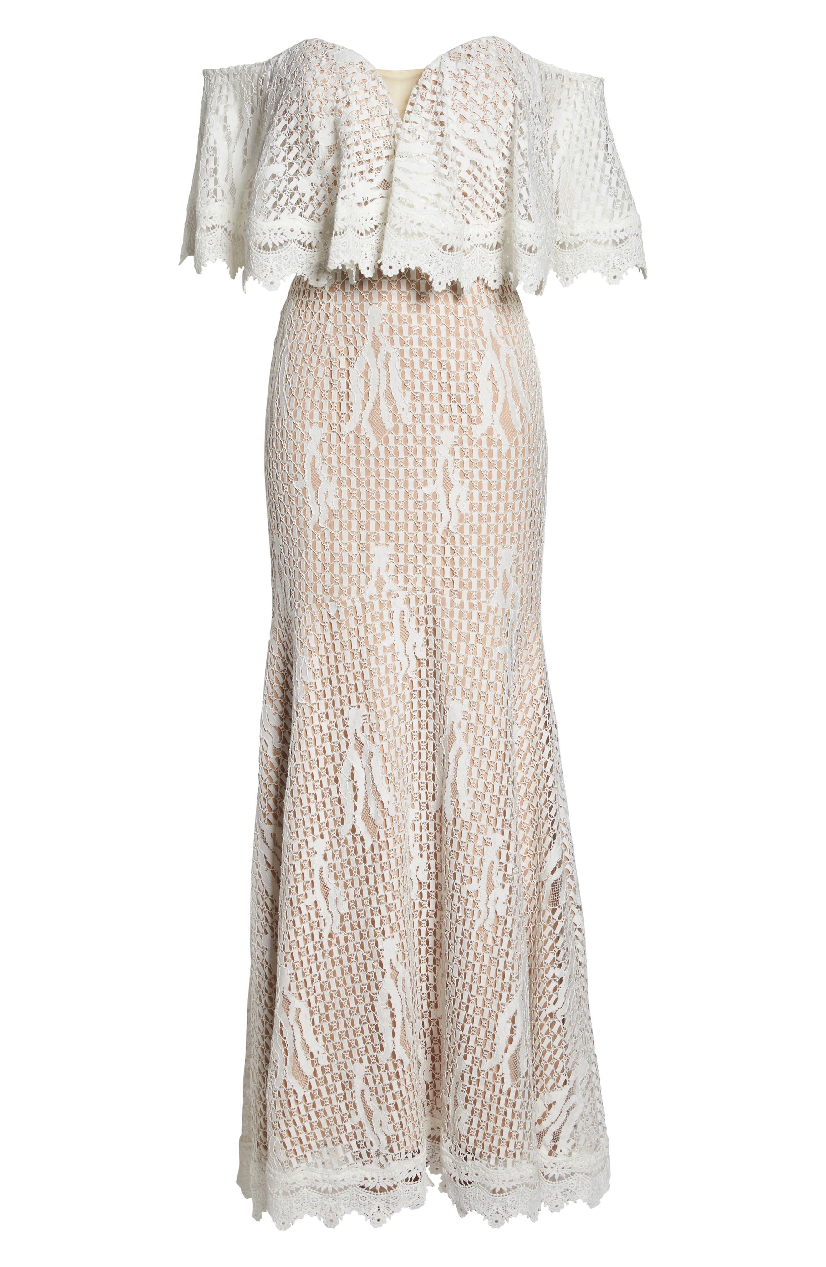 Davilea Off the Shoulder Lace Gown,                             Alternate thumbnail 6, color,                             900