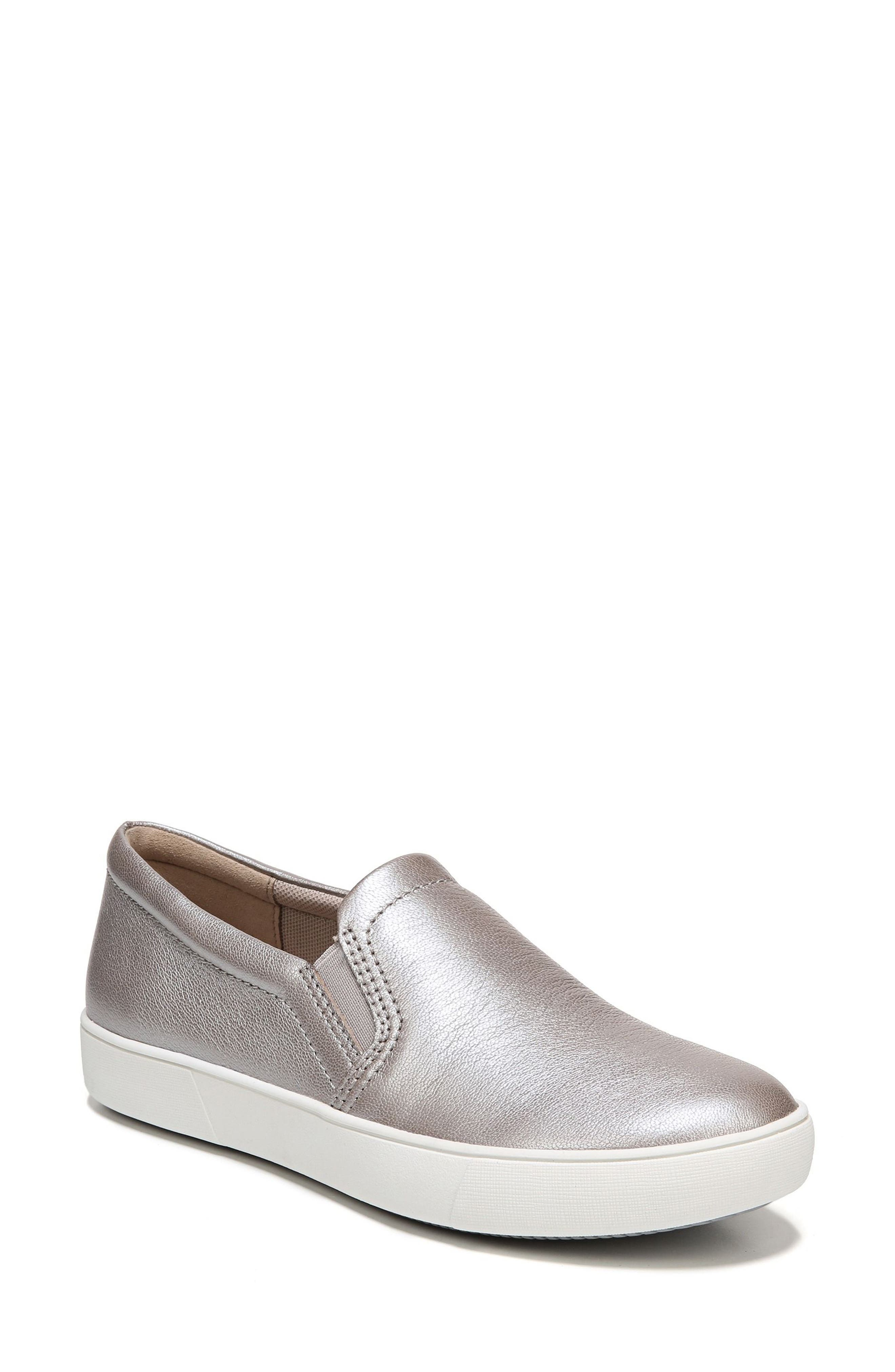 Marianne Slip-On Sneaker,                             Main thumbnail 1, color,                             SILVER LEATHER