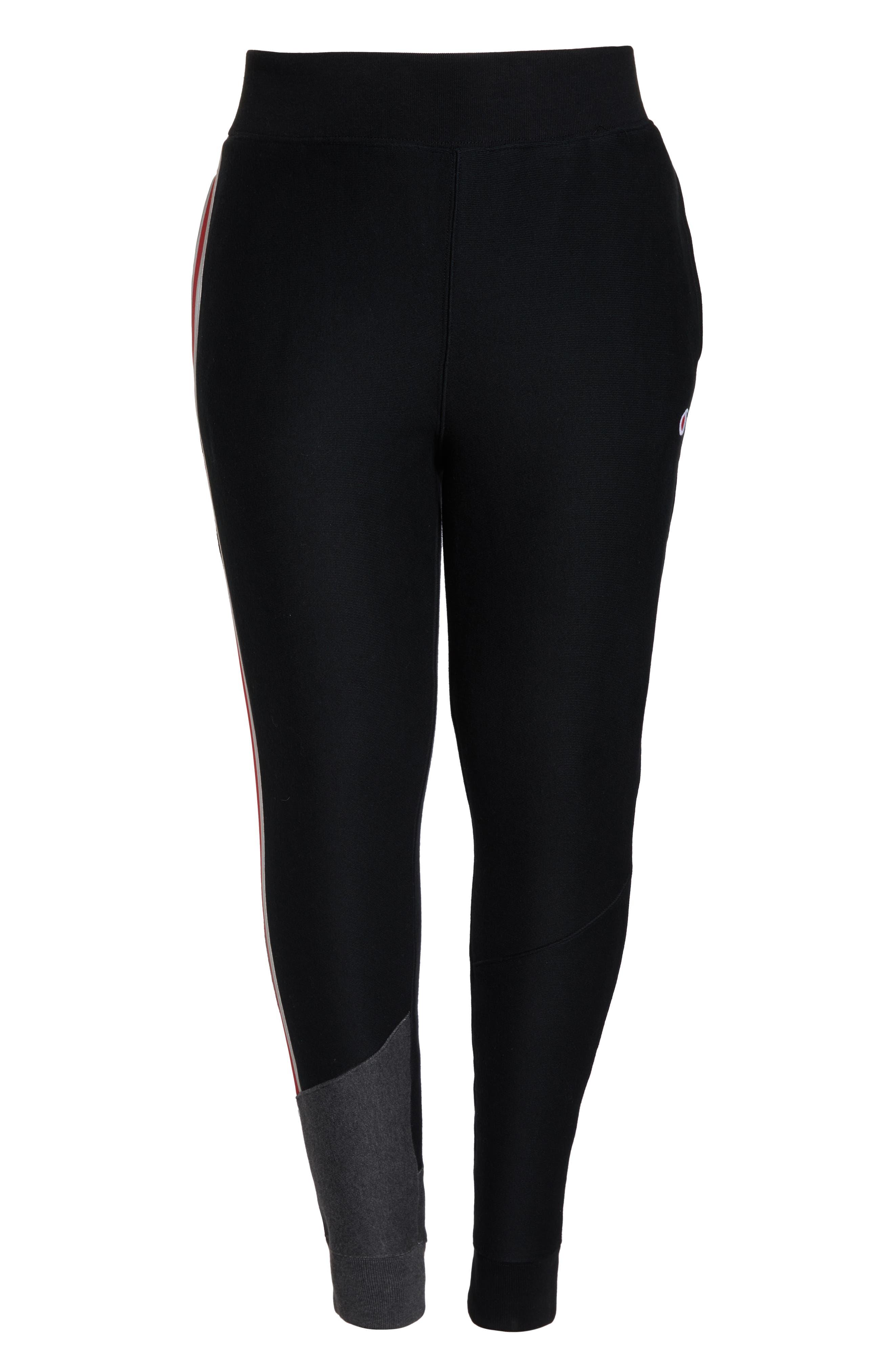 Color Block Jogger Pants,                             Alternate thumbnail 10, color,                             BLACK/ GRANITE HEATHER