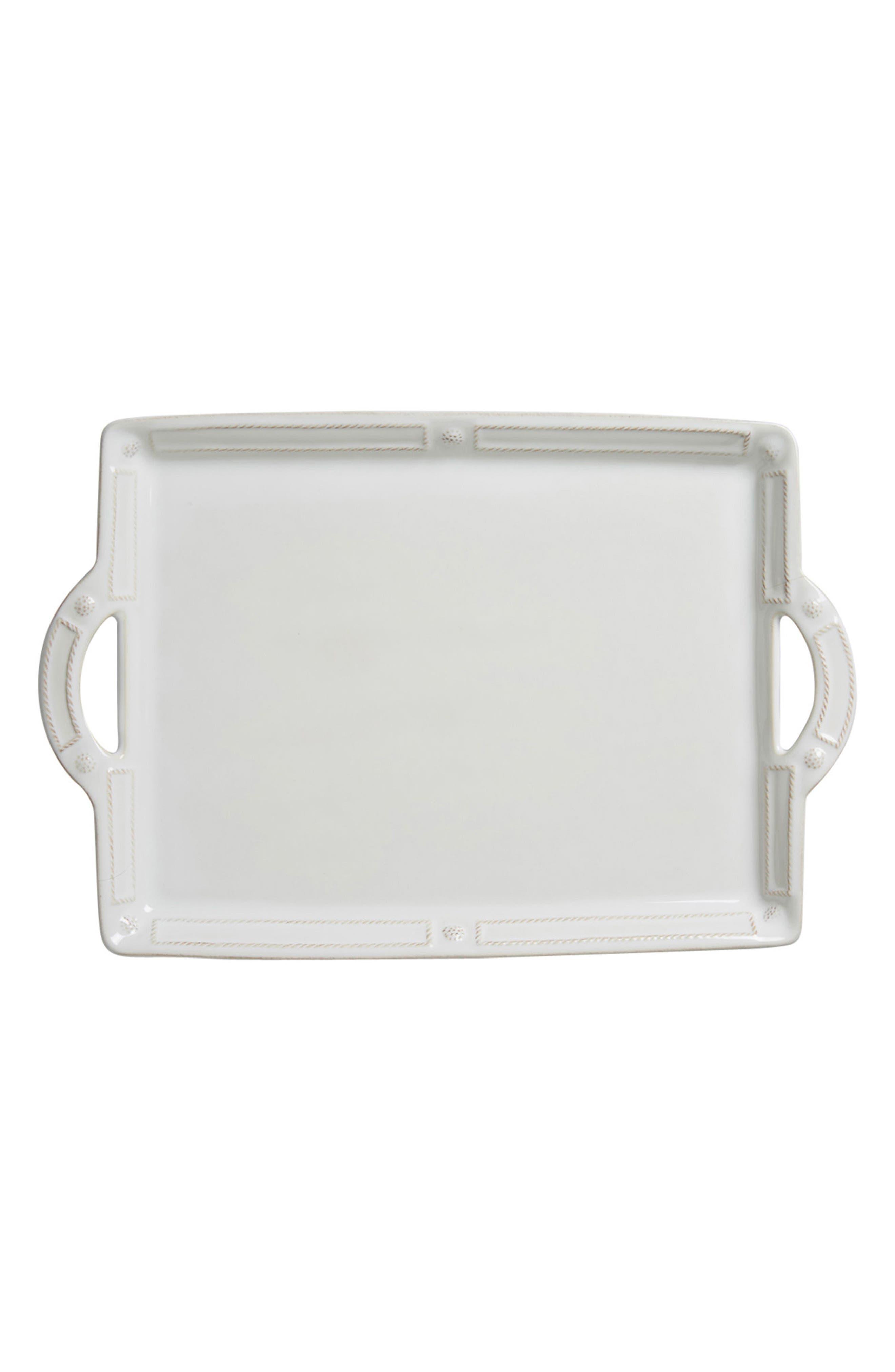Berry & Thread Ceramic Tray,                         Main,                         color, WHITEWASH