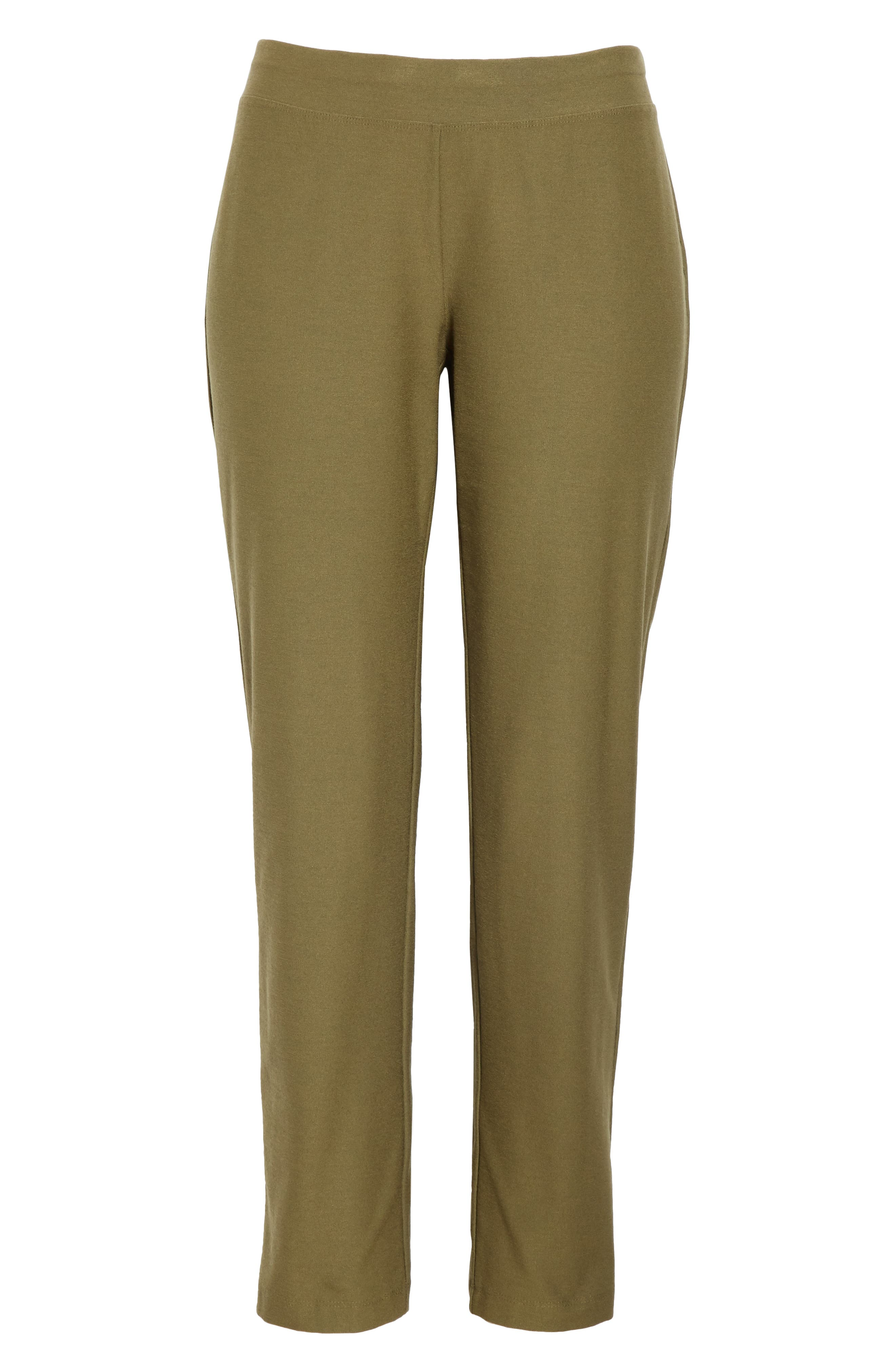 Stretch Crepe Ankle Pants,                             Alternate thumbnail 7, color,                             OLIVE