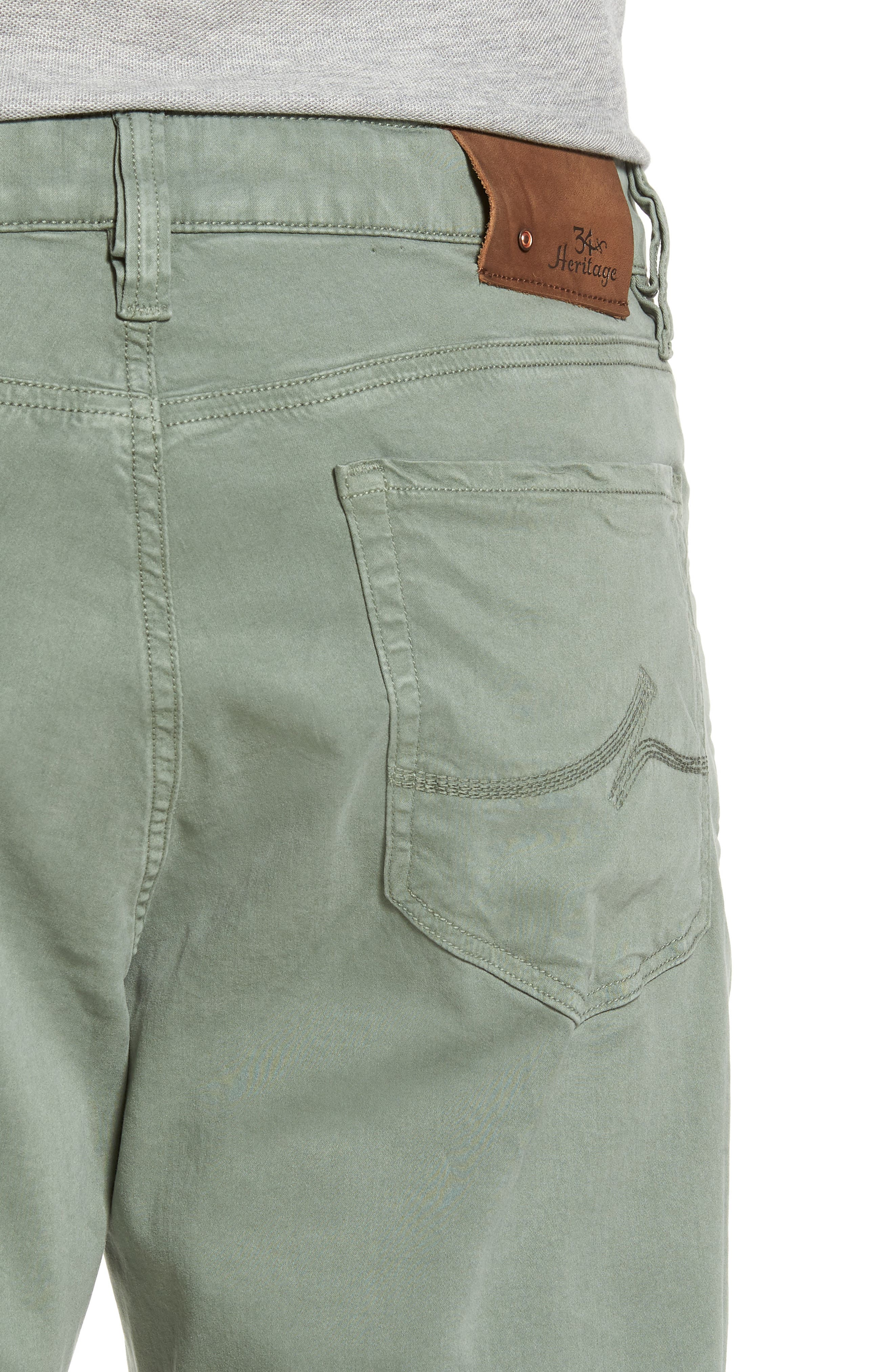 34 HERITAGE,                             Charisma Relaxed Fit Twill Pants,                             Alternate thumbnail 4, color,                             MOSS TWILL