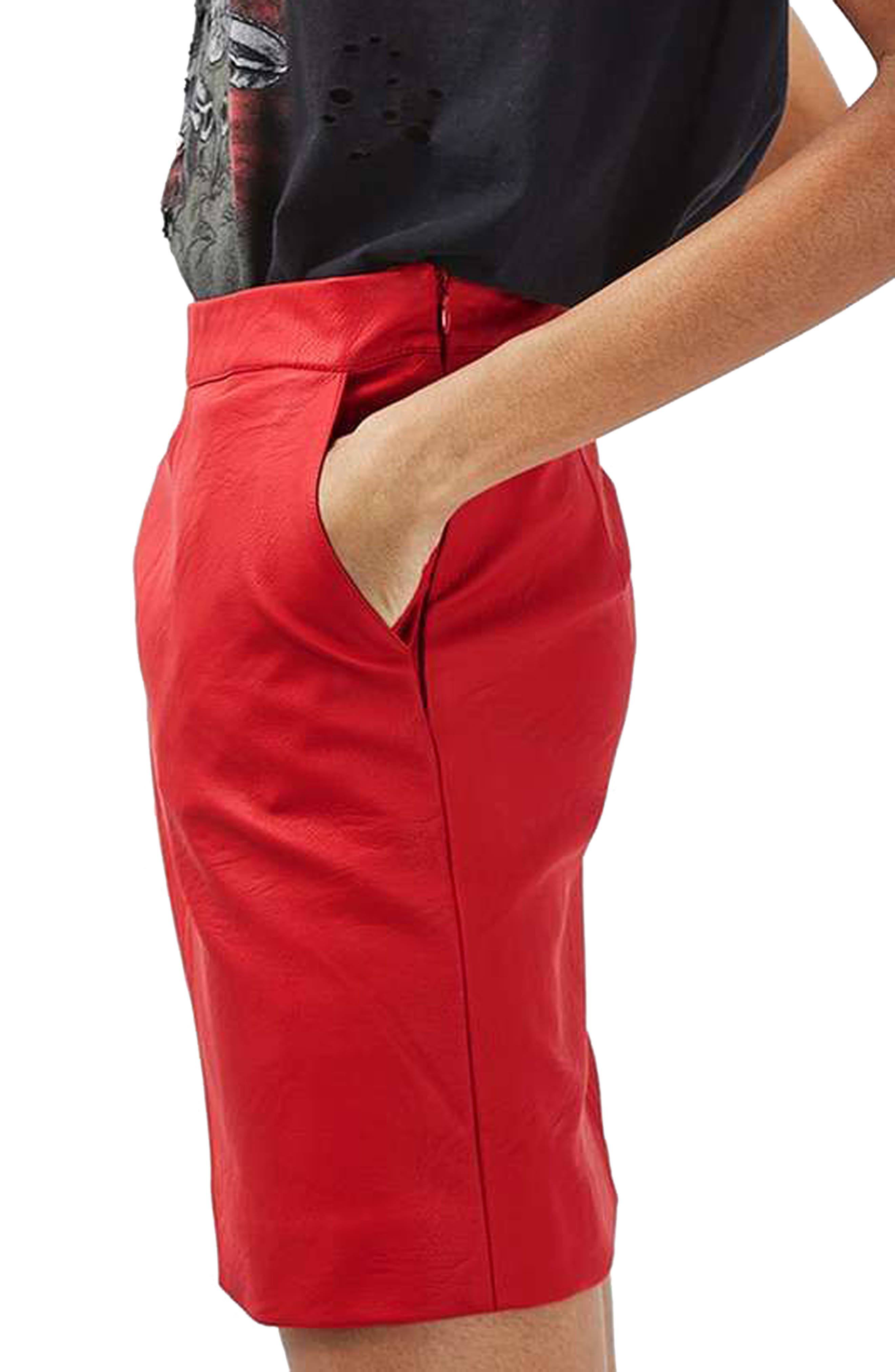 Faux Leather Pencil Skirt,                             Alternate thumbnail 11, color,