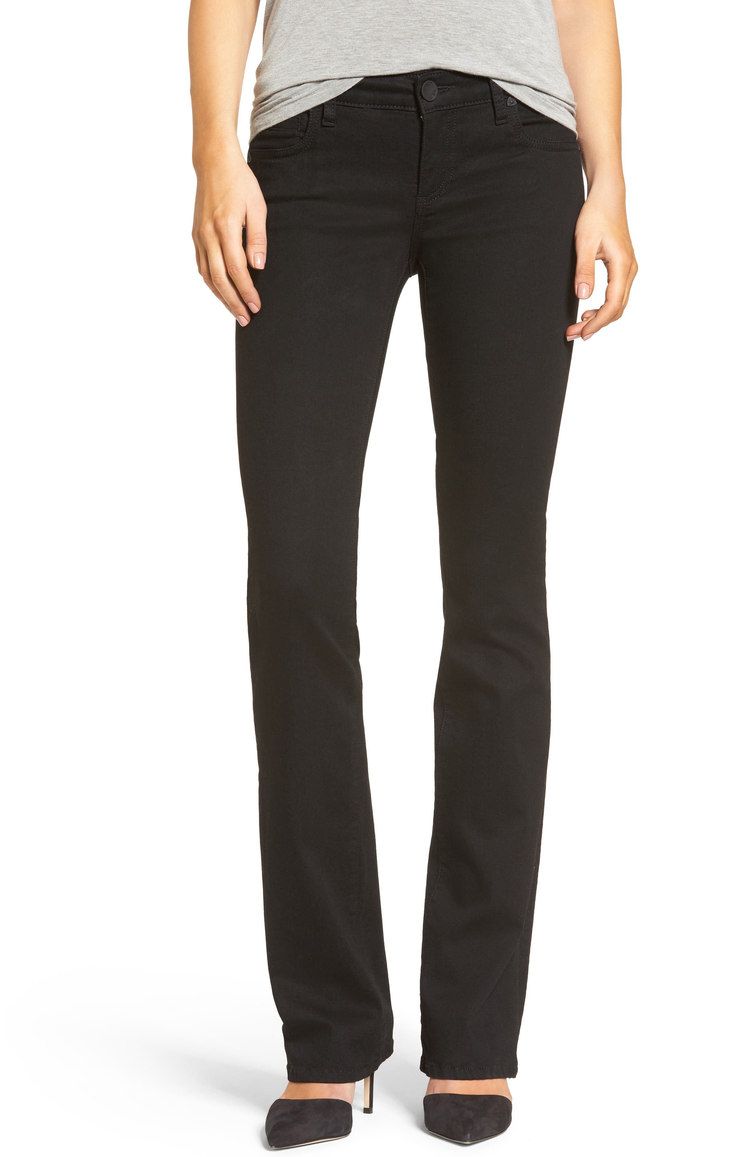 Natalie Stretch Bootleg Jeans,                             Main thumbnail 1, color,                             002