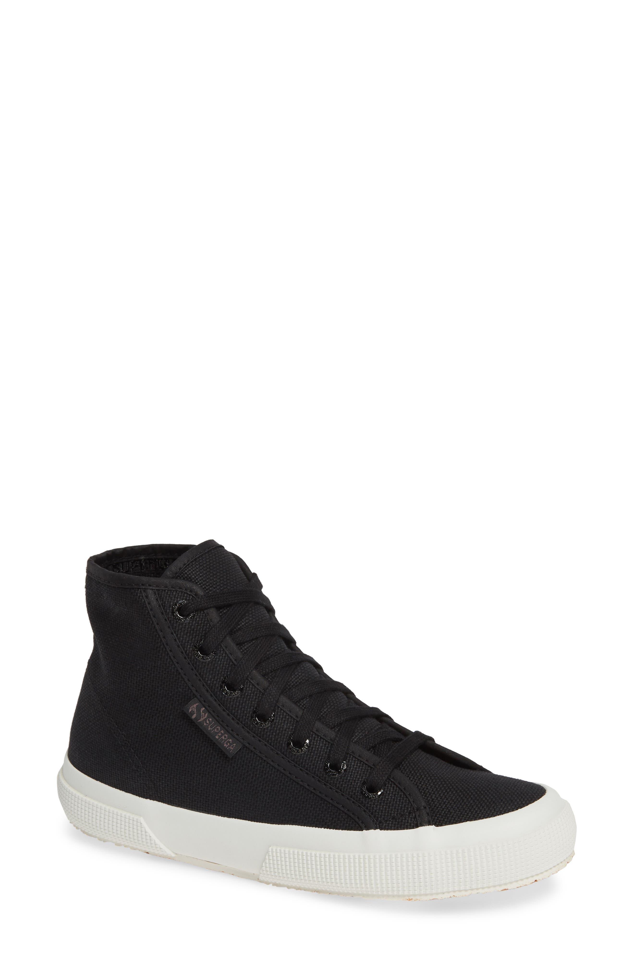 2795 High Top Sneaker,                             Main thumbnail 1, color,                             BLACK/ WHITE