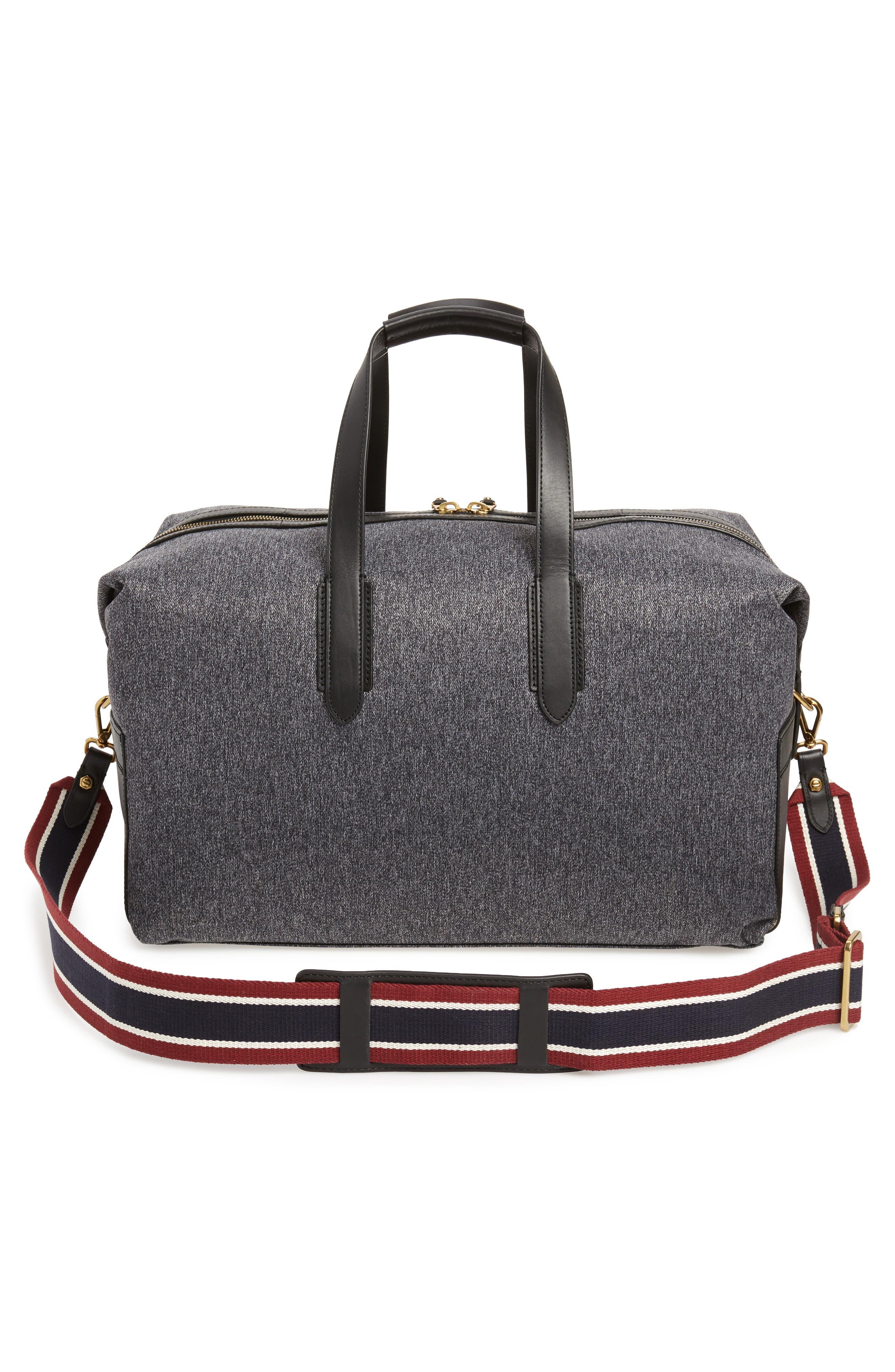 Oar Stripe Weekend Bag,                             Alternate thumbnail 3, color,                             001