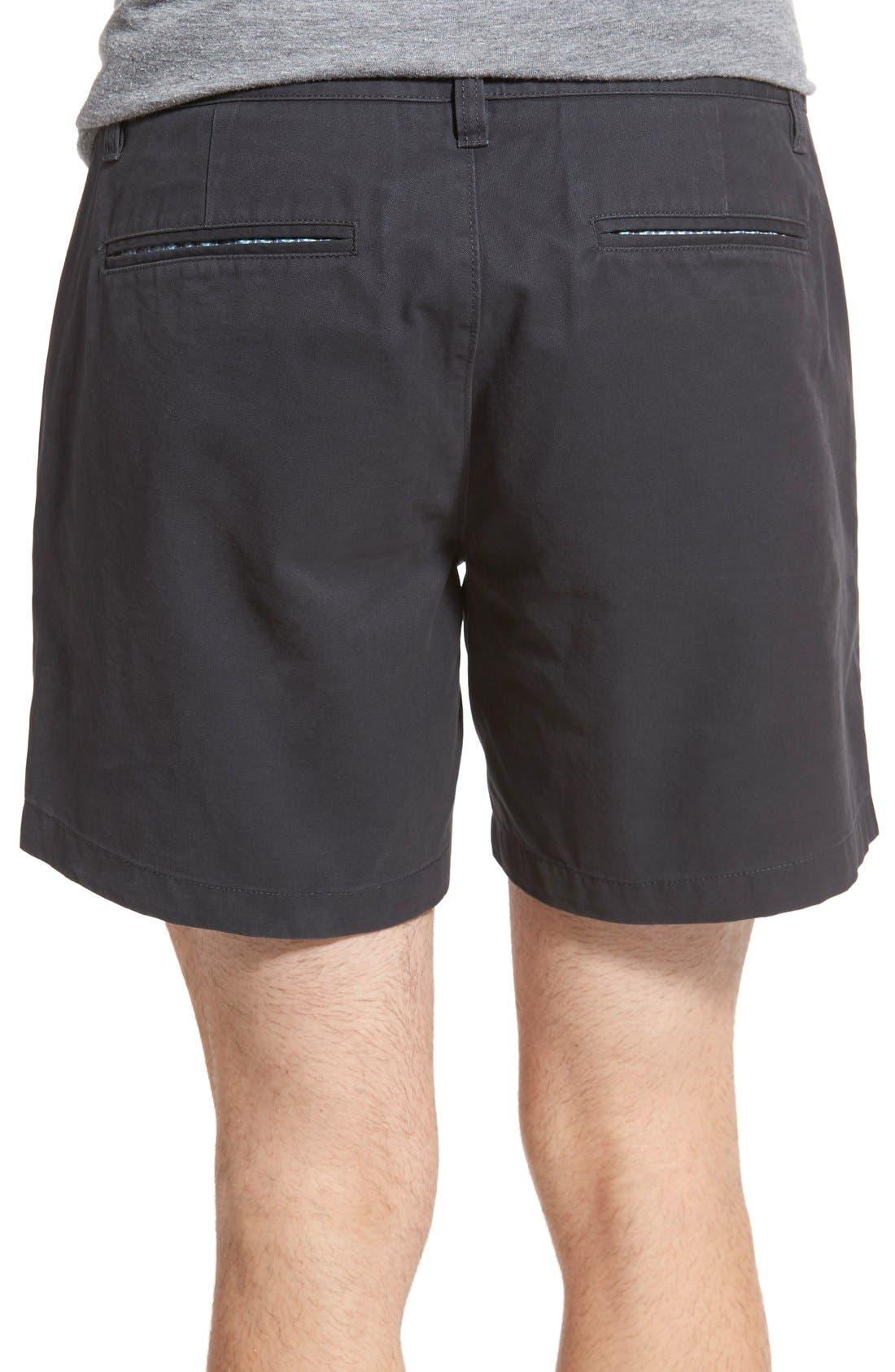 Washed Chino Shorts,                             Alternate thumbnail 3, color,                             001