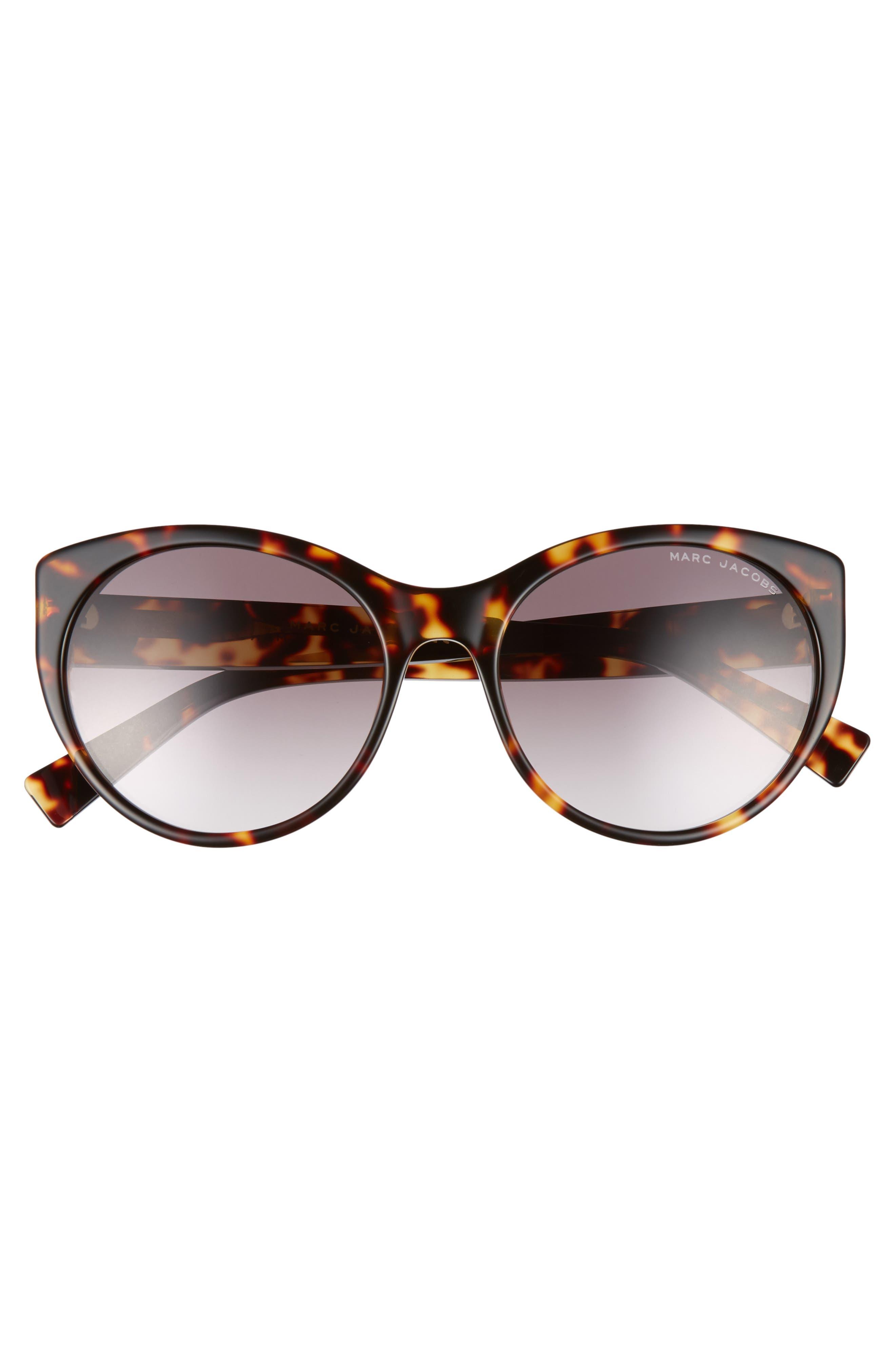 MARC JACOBS,                             57mm Round Sunglasses,                             Alternate thumbnail 3, color,                             BLACK DARK HAVANA