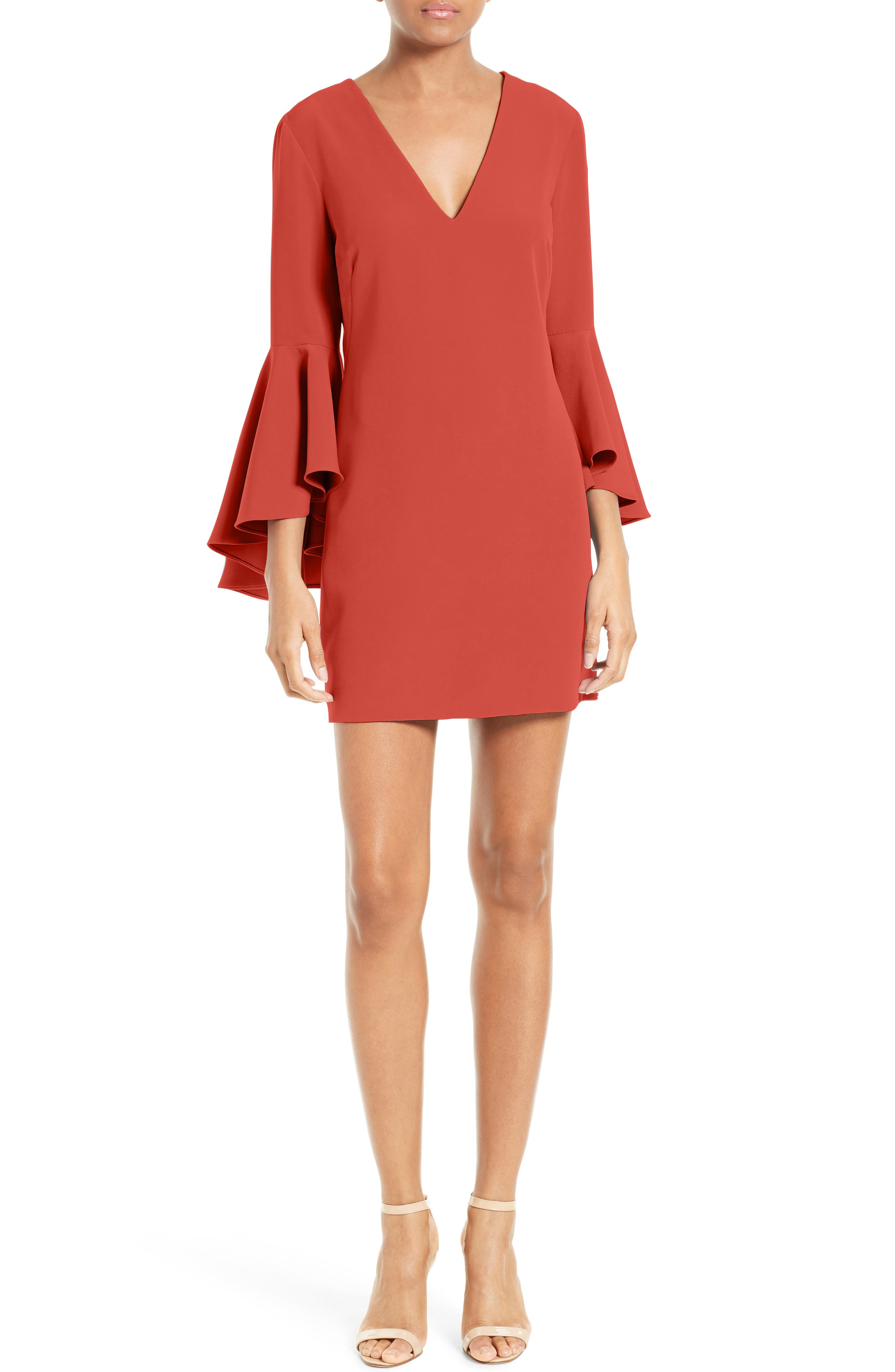 Nicole Bell Sleeve Dress,                             Main thumbnail 16, color,