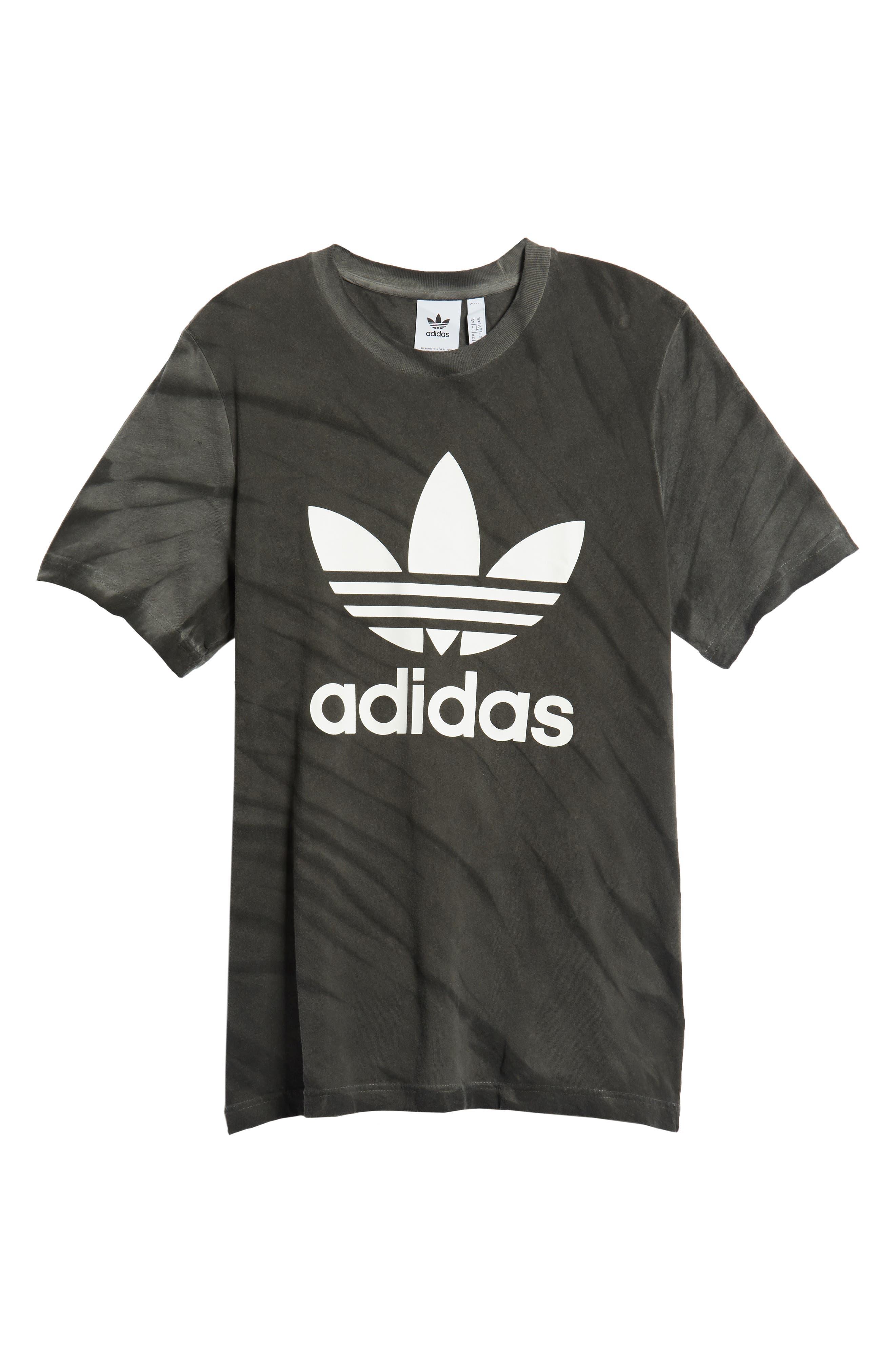 Tie Dye Logo T-Shirt,                             Alternate thumbnail 6, color,                             BLACK