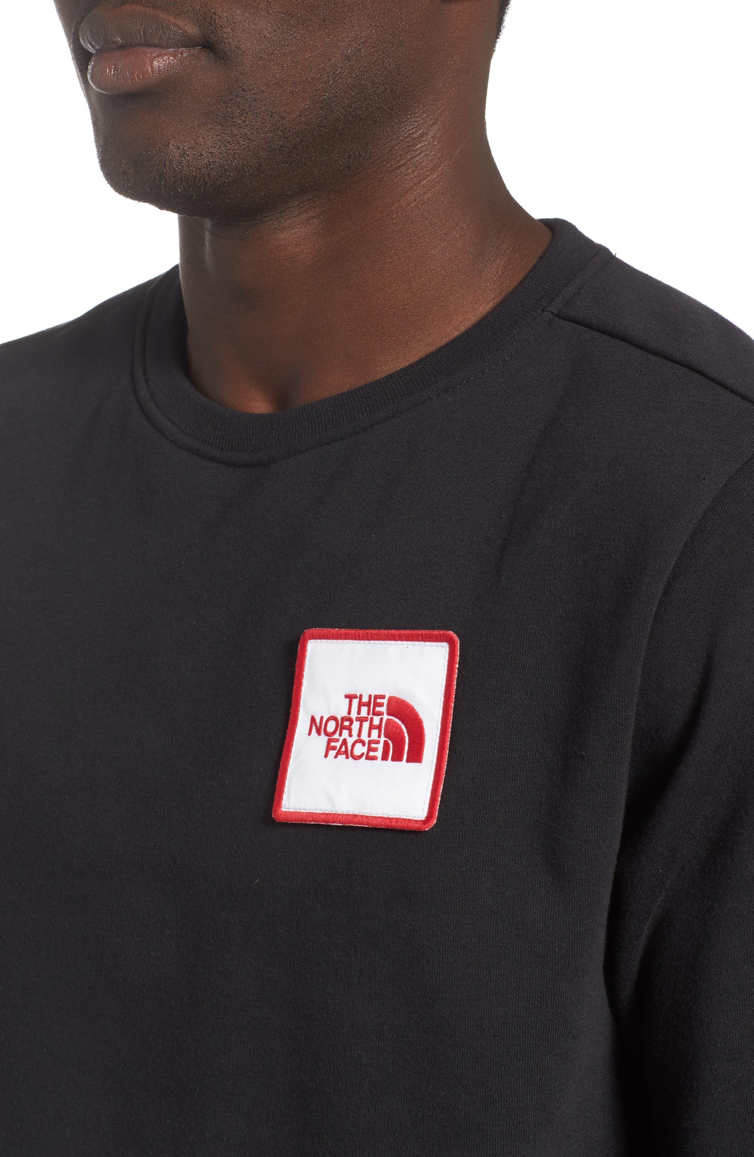 Logo Sweatshirt,                             Alternate thumbnail 4, color,                             TNF BLACK