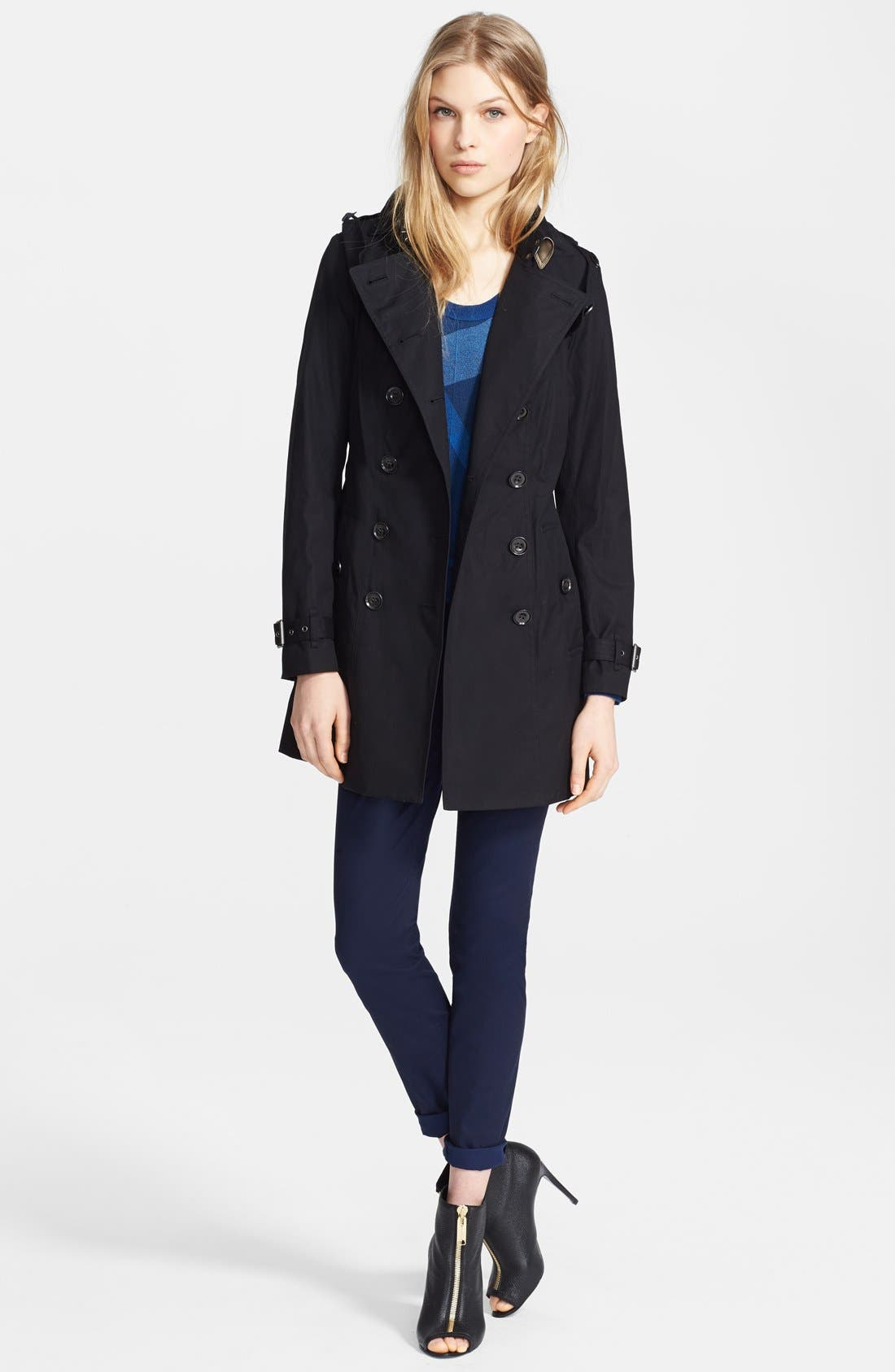 'Reymoore' Trench Coat with Detachable Hood,                             Alternate thumbnail 2, color,                             001