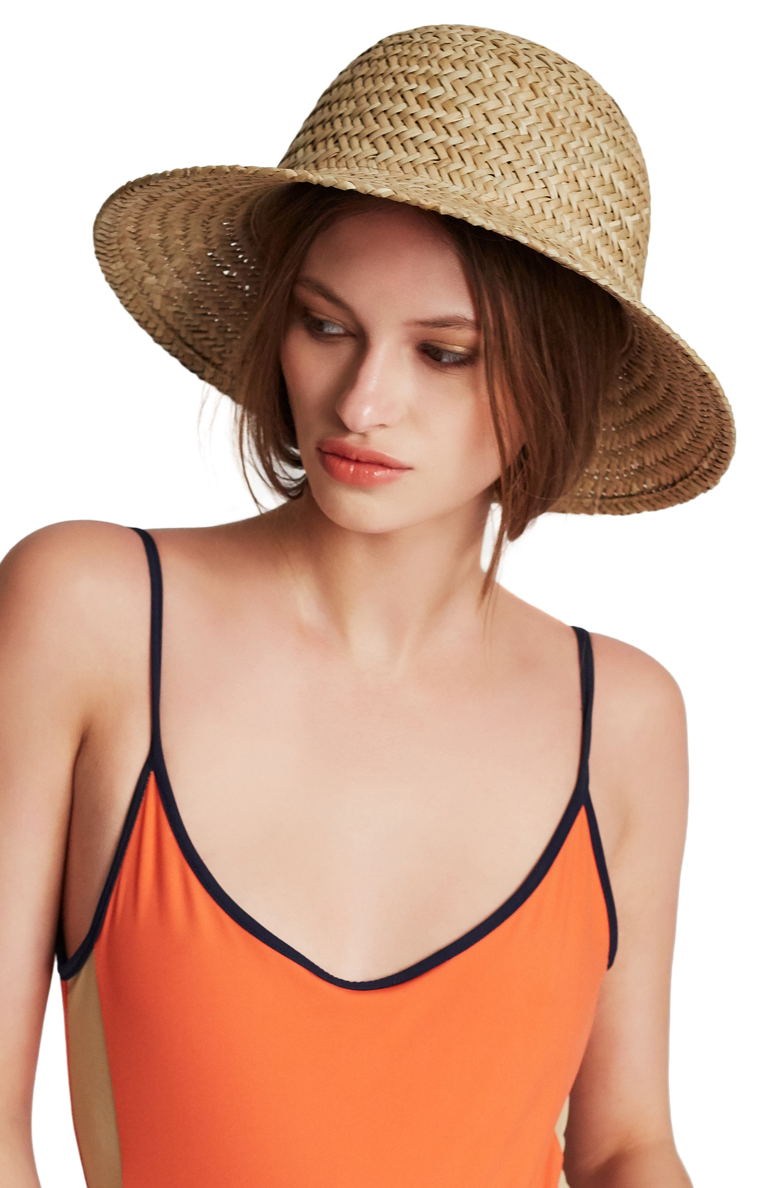 Kennedy Straw Hat,                             Alternate thumbnail 2, color,                             DARK TAN