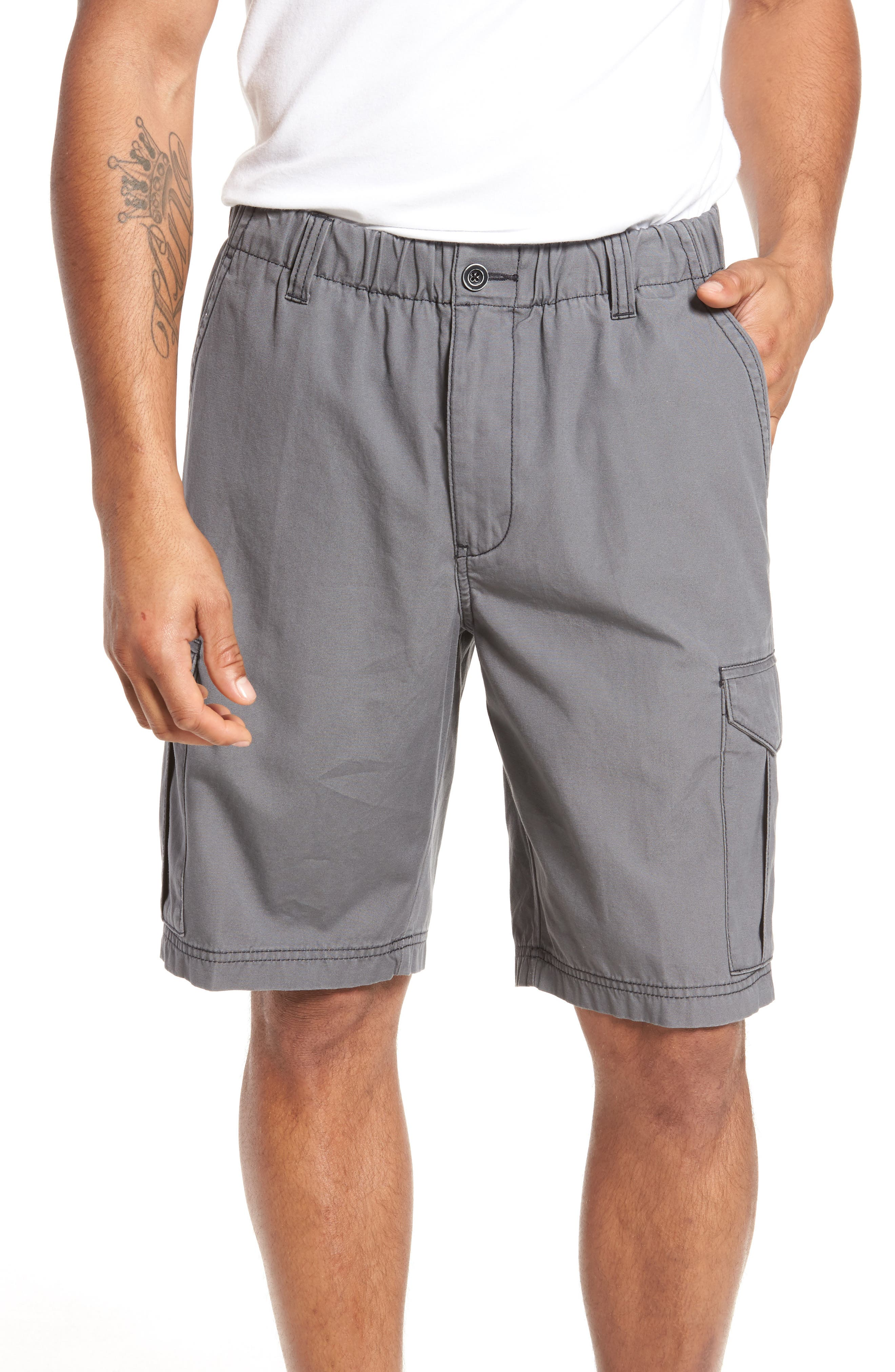 Island Survivalist Cargo Shorts,                             Main thumbnail 1, color,                             FOG GREY