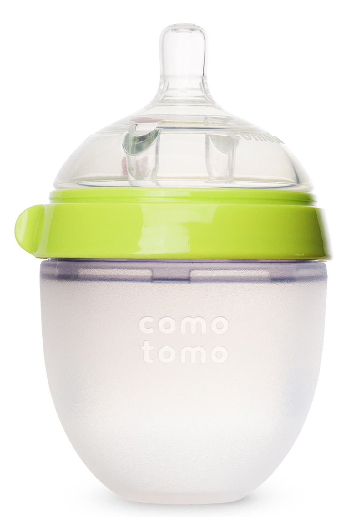 Slow Flow Baby Bottle,                         Main,                         color, GREEN