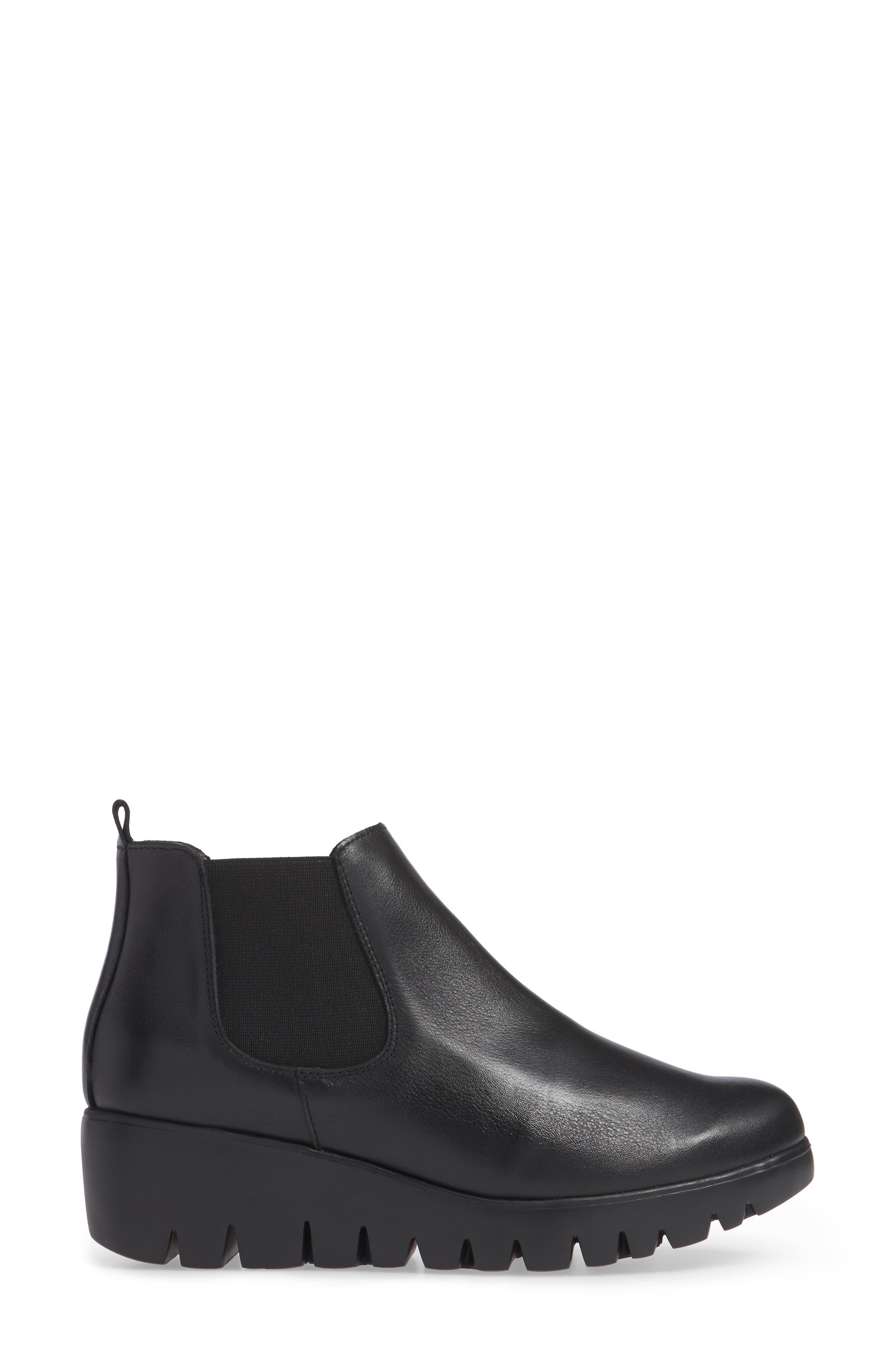 Slip-On Chelsea Boot,                             Alternate thumbnail 3, color,                             BLACK SMOOTH LEATHER